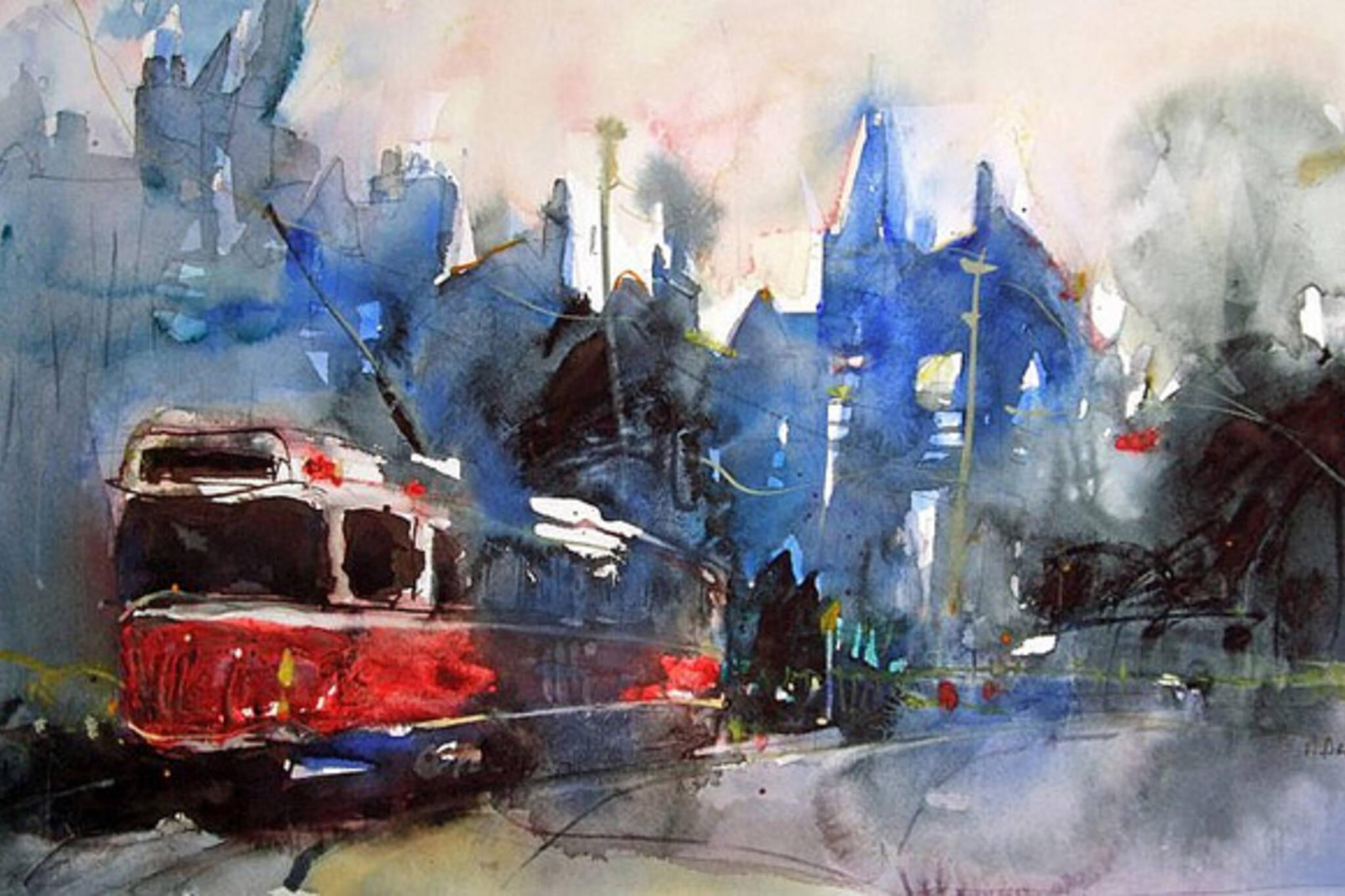 painting, ttc, streetcar