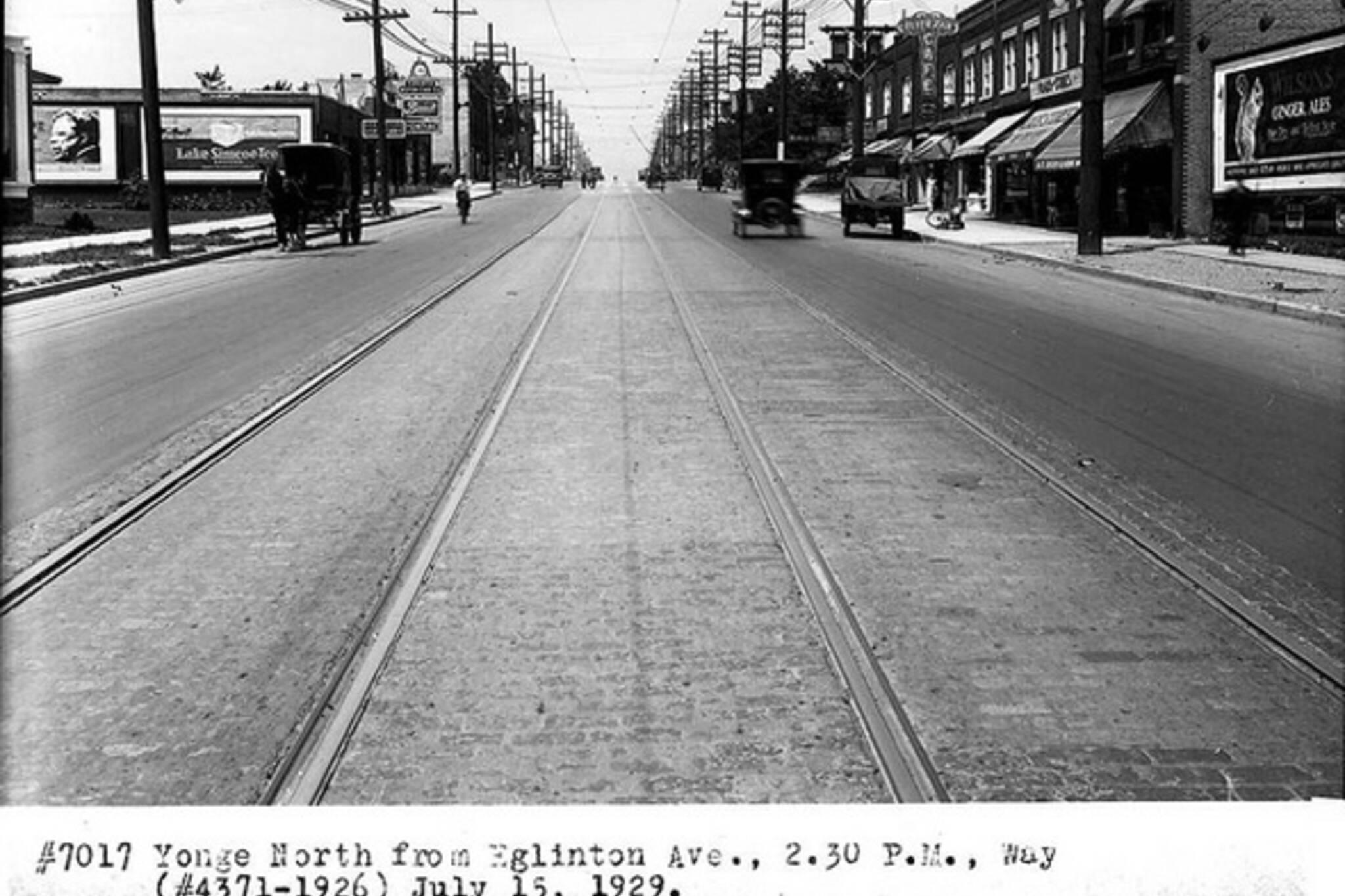 Yonge and Eglinton History