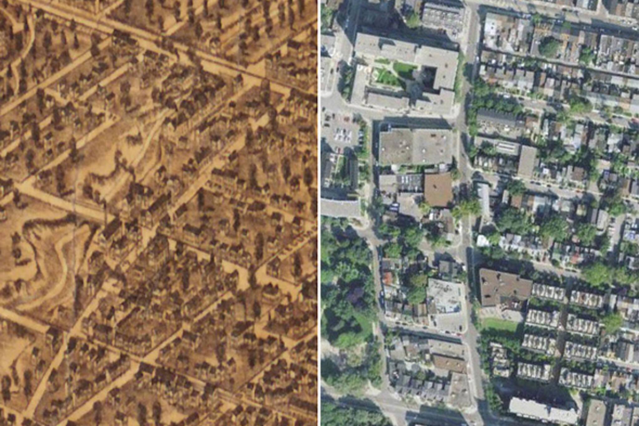 Toronto Past Present Map