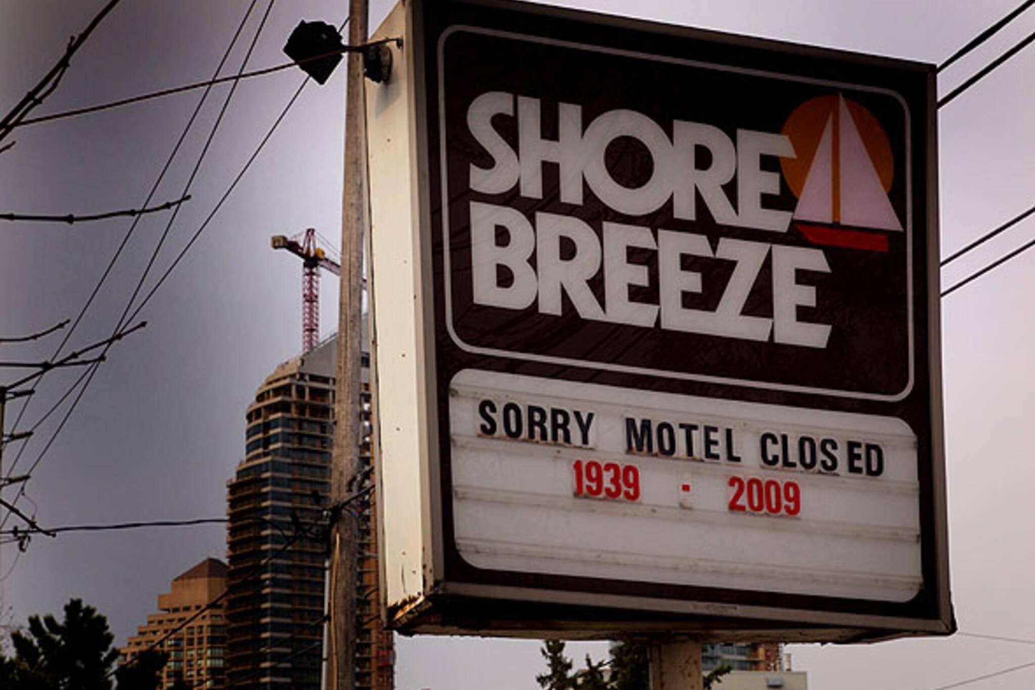 Shore Breeze sign