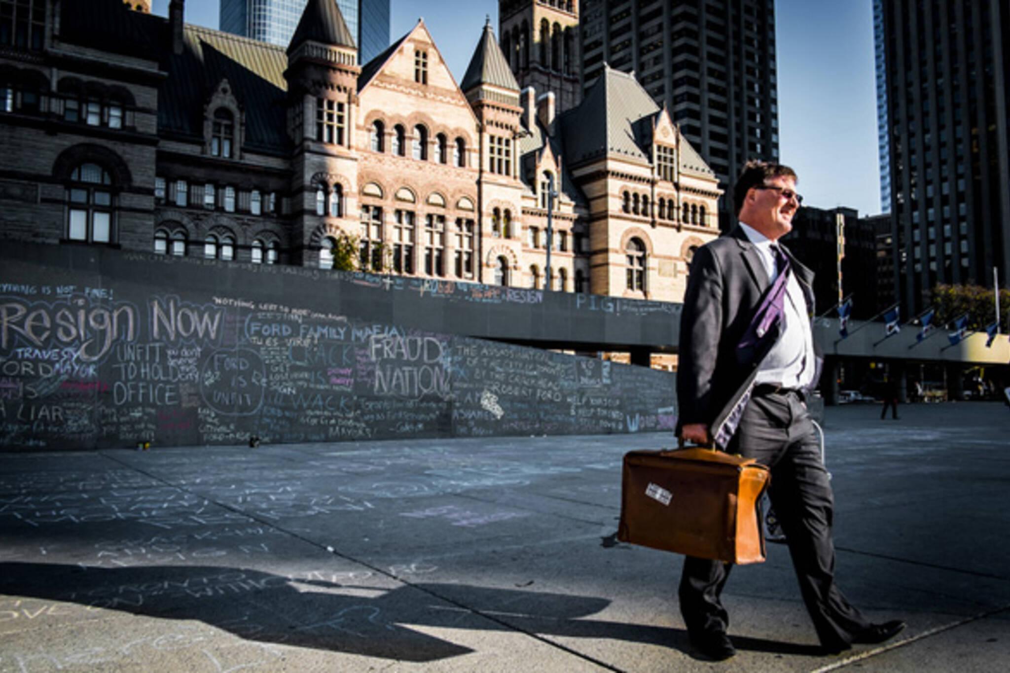 Rob Ford Chalk City Hall