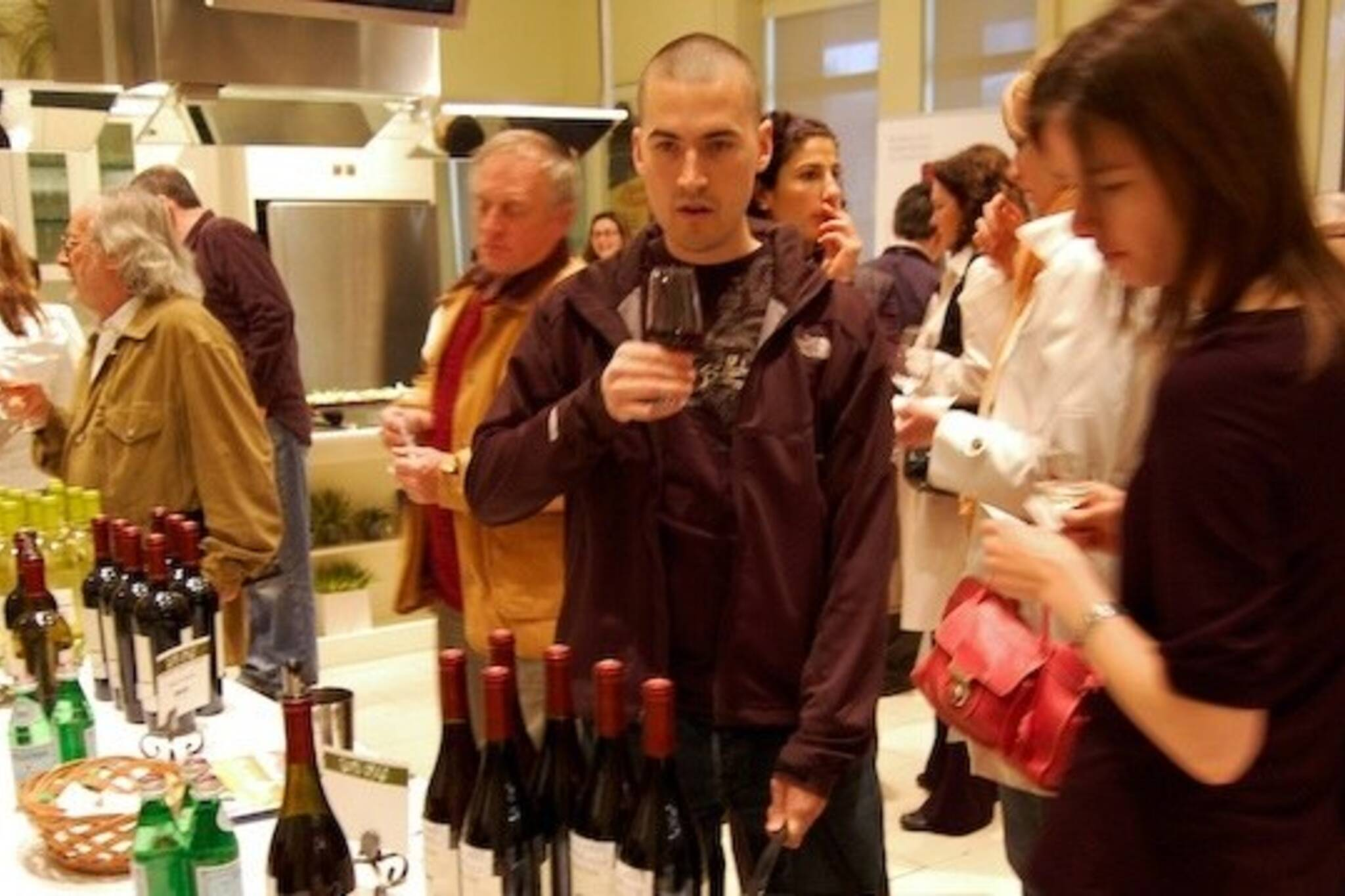 The crowd at the Sante wine sampling