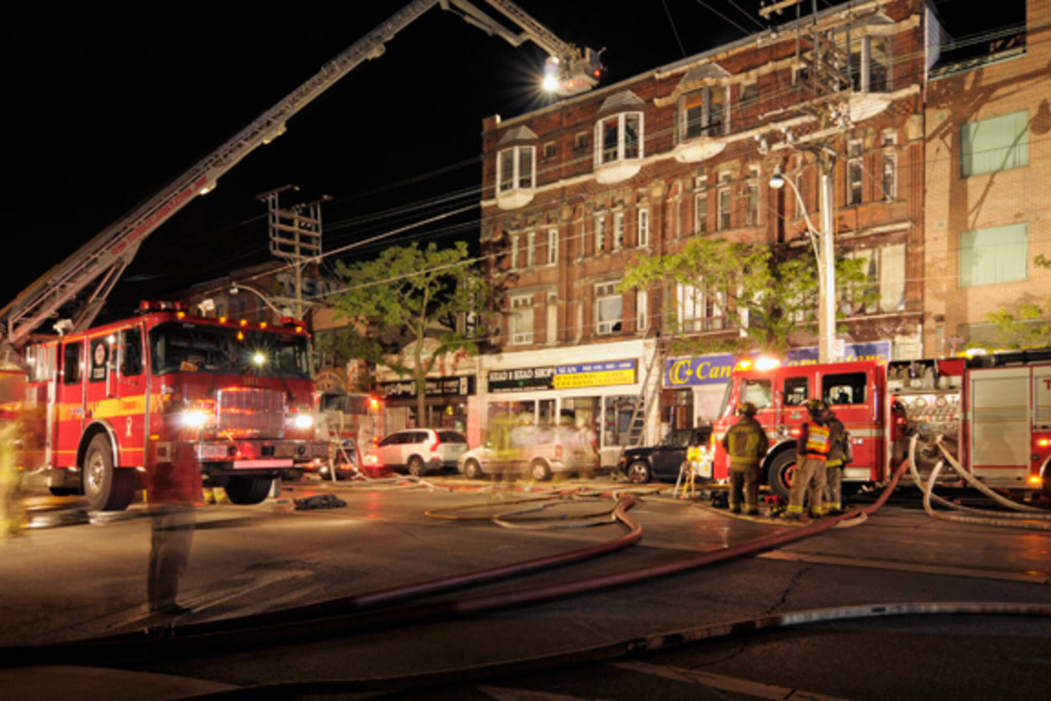 College Bathurst Fire