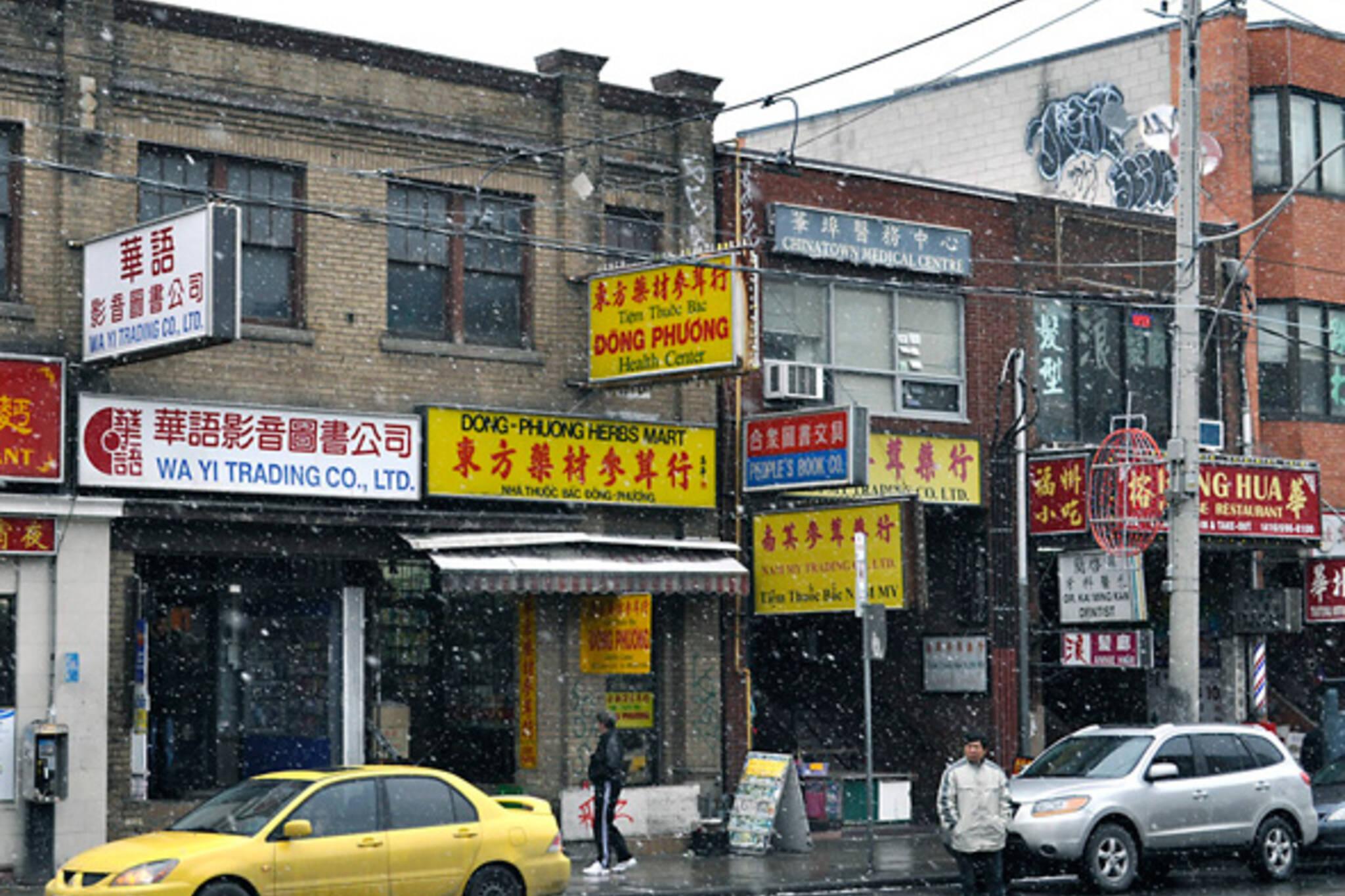 Snow Chinatown Toronto