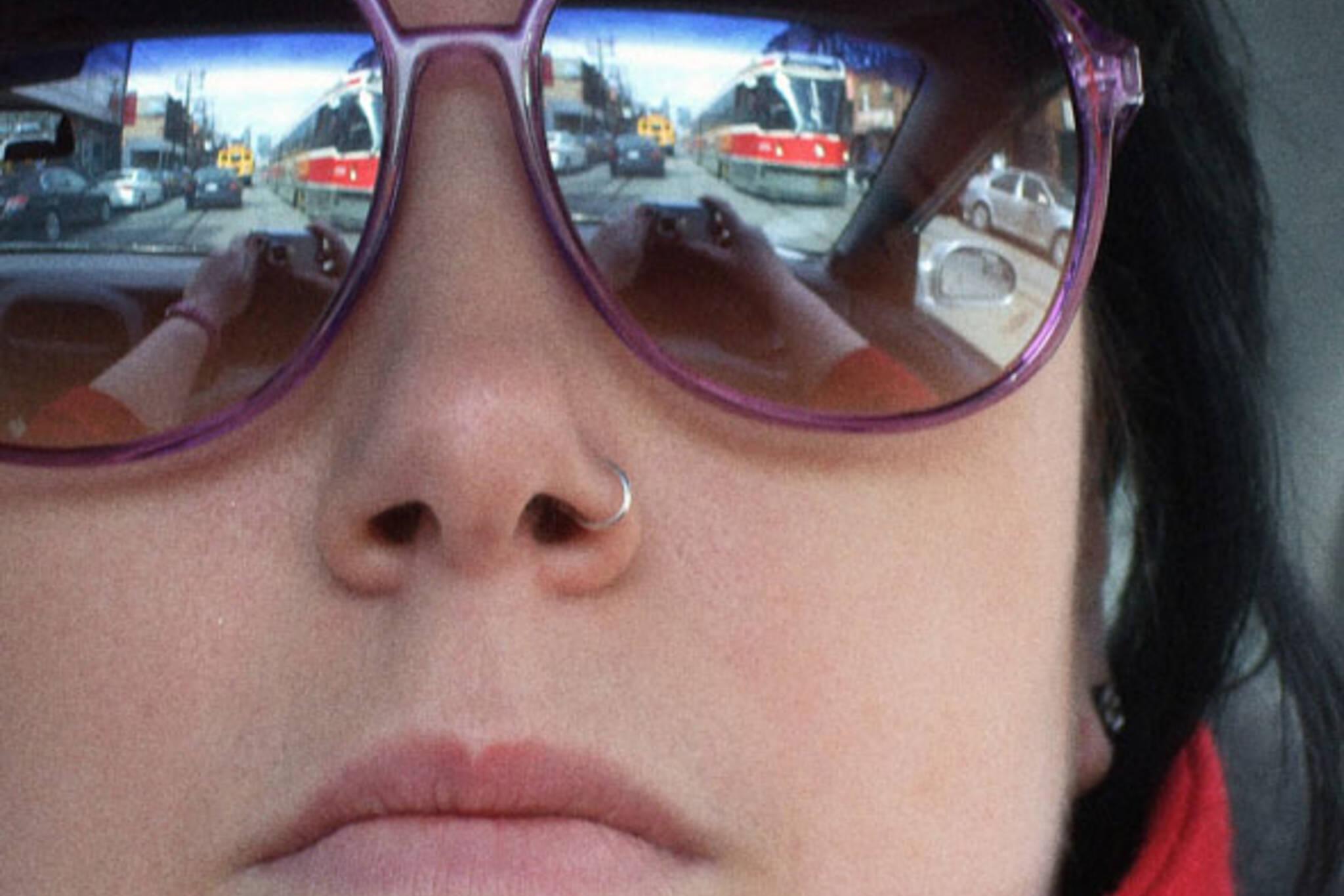 TTC STREETCAR sunglasses reflection