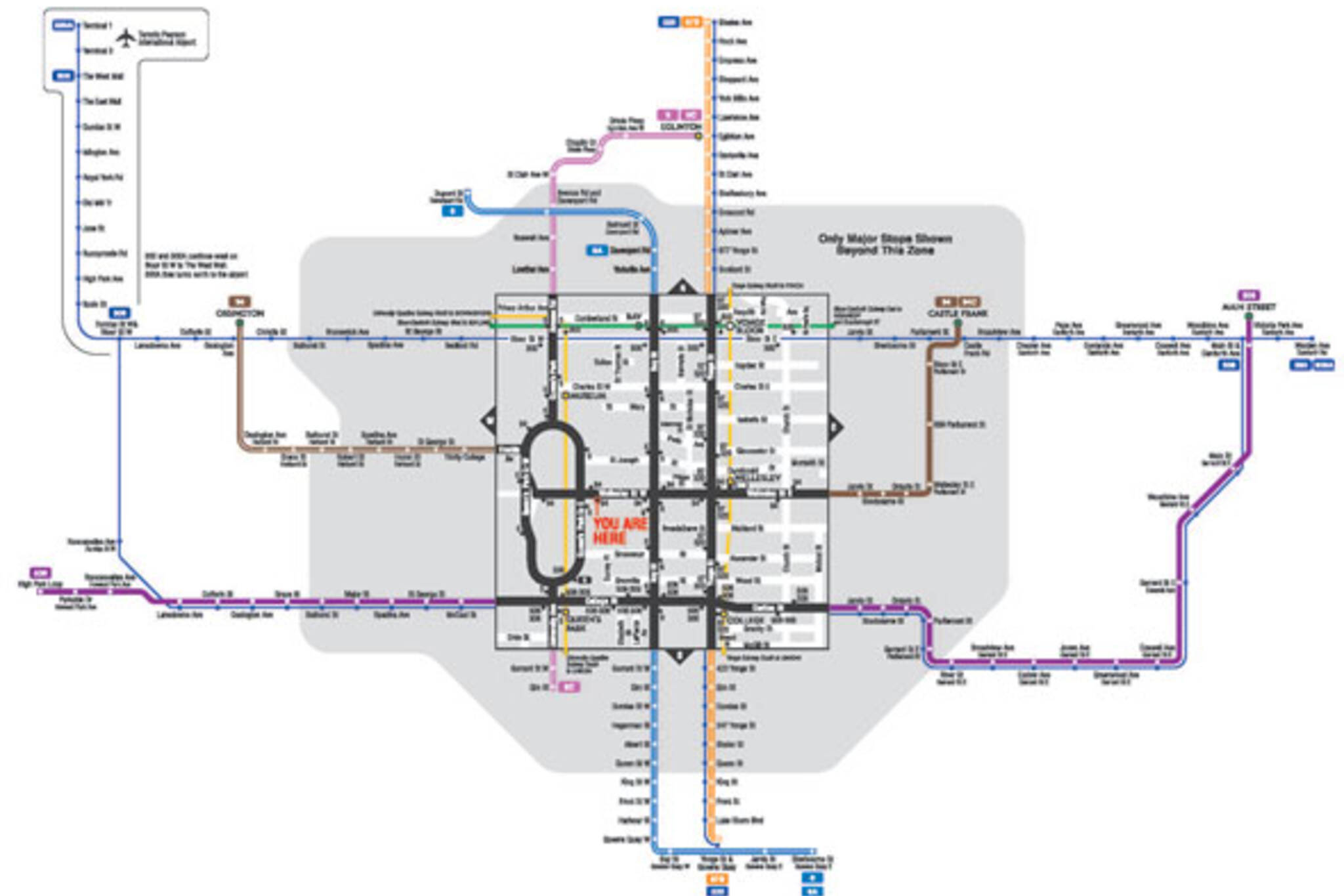 new ttc map