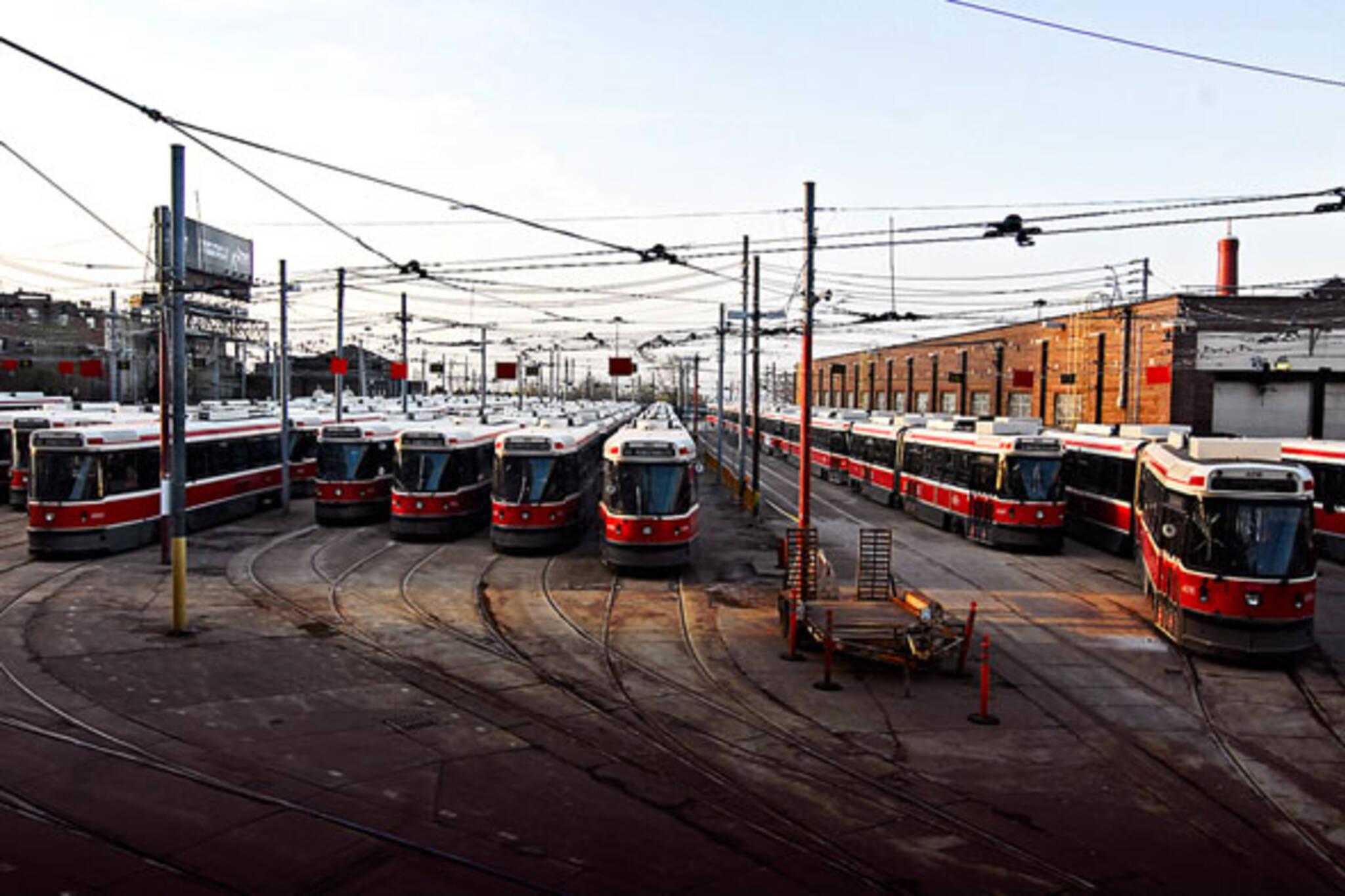 ttc streetcars sit still