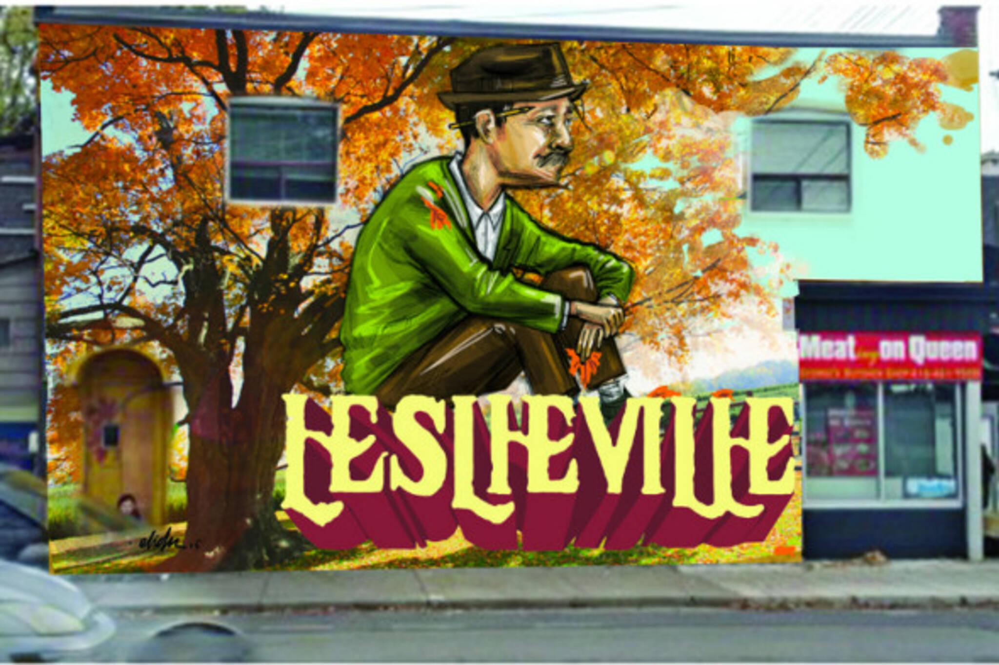 Toronto Leslieville mural