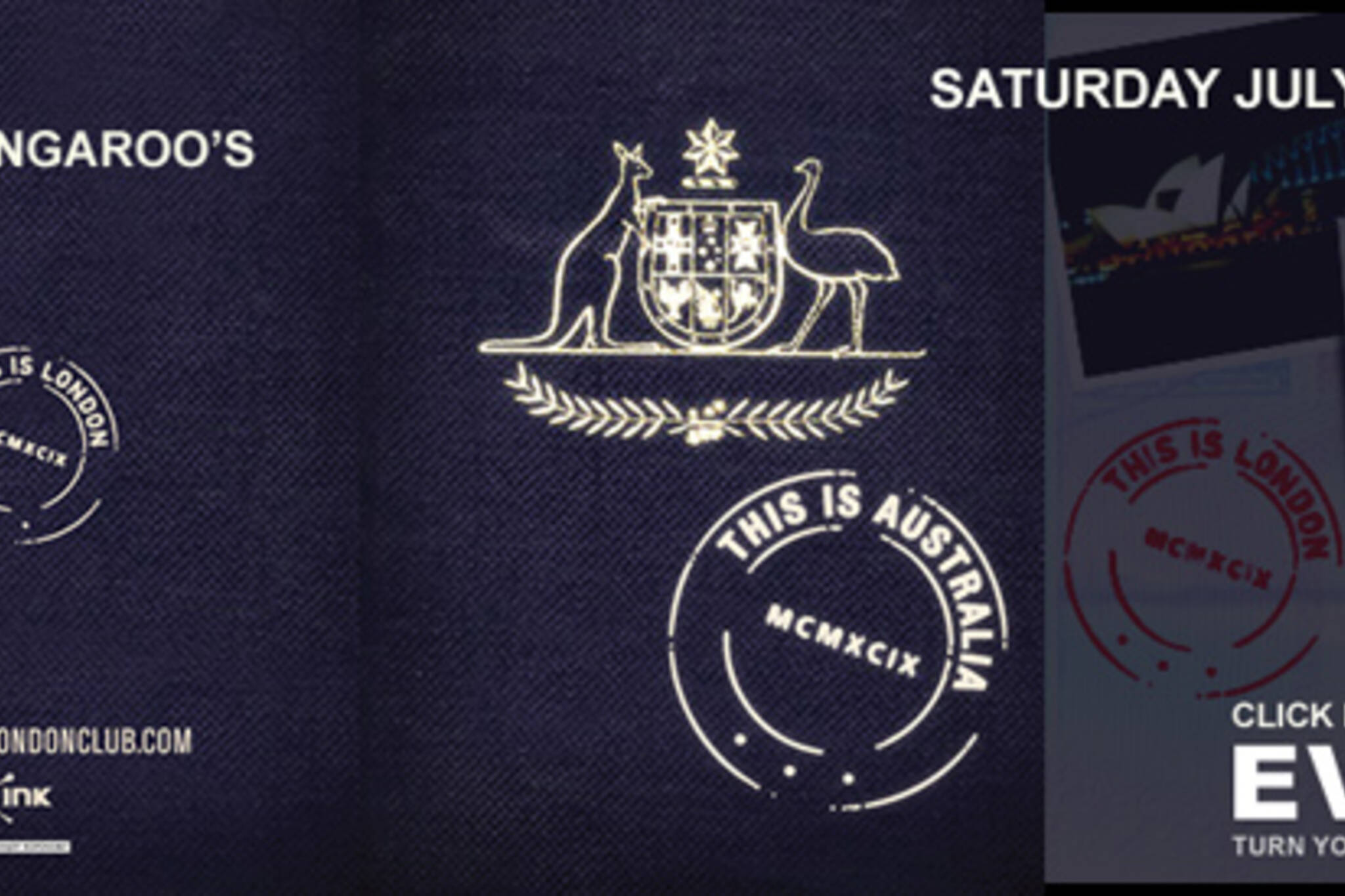 This Is Australia event eFlyer with live kangaroo announcement