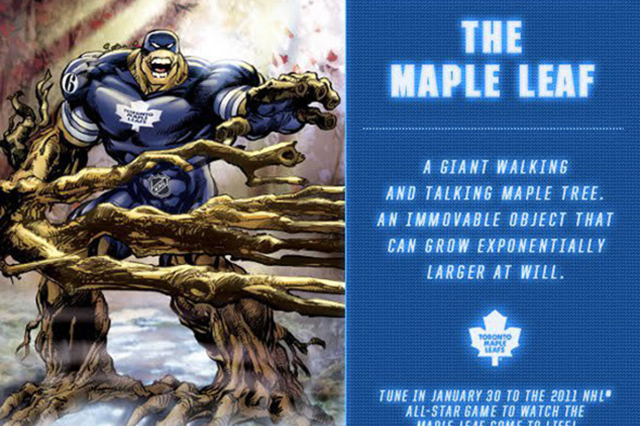 Toronto Maple Leaf Superhero Guardian