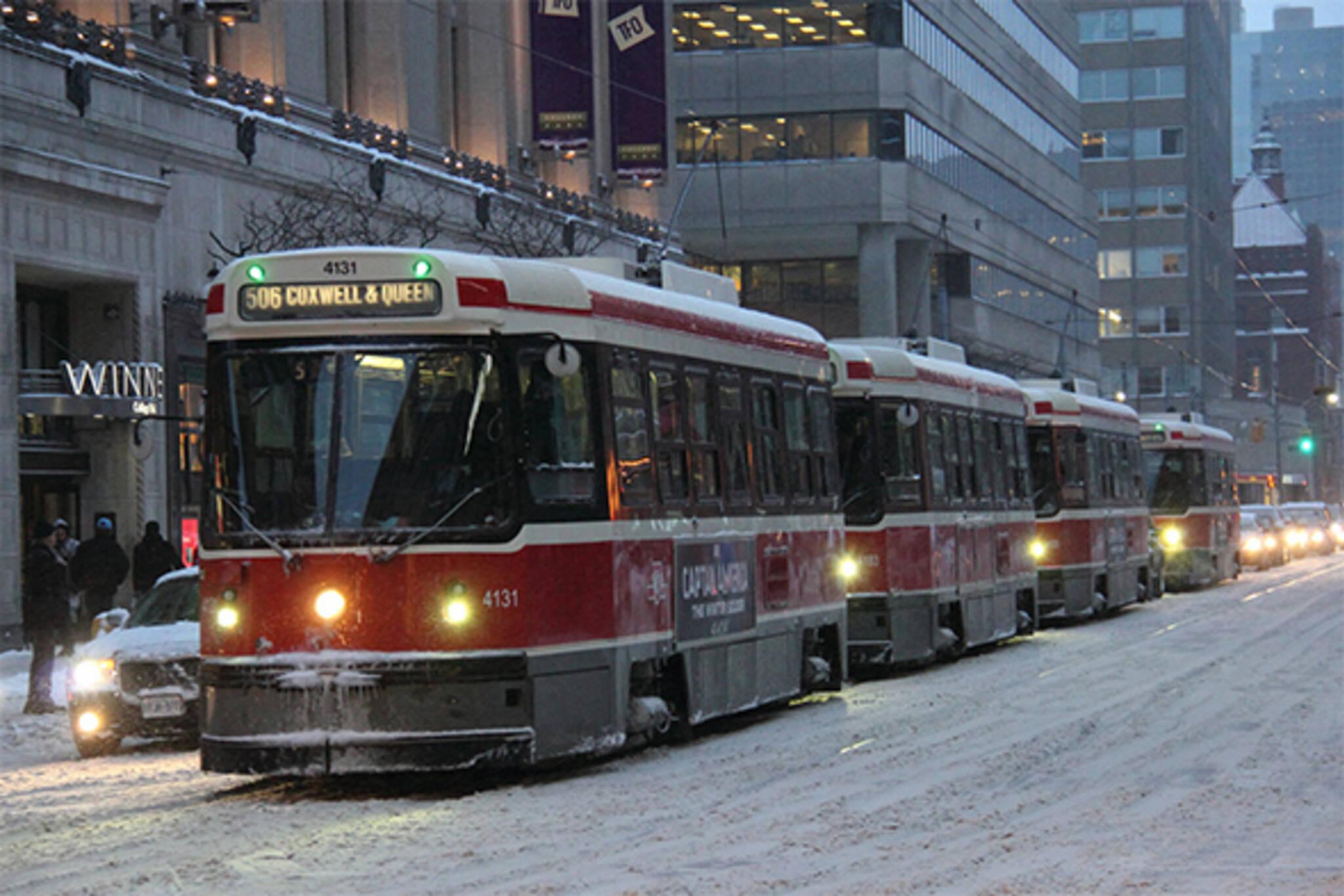 cold streetcar toronto