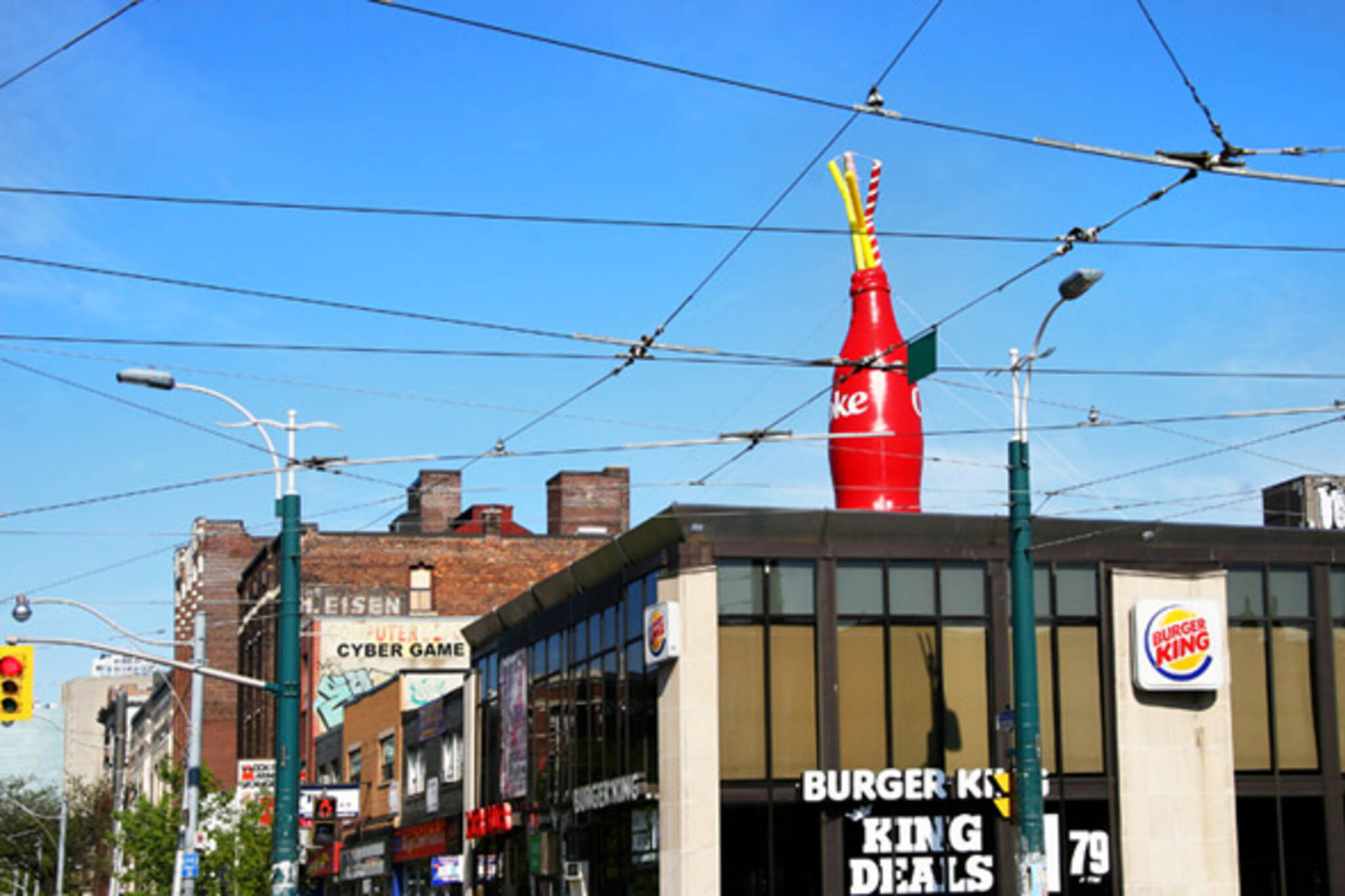 Coke Bottle at College & Spadina