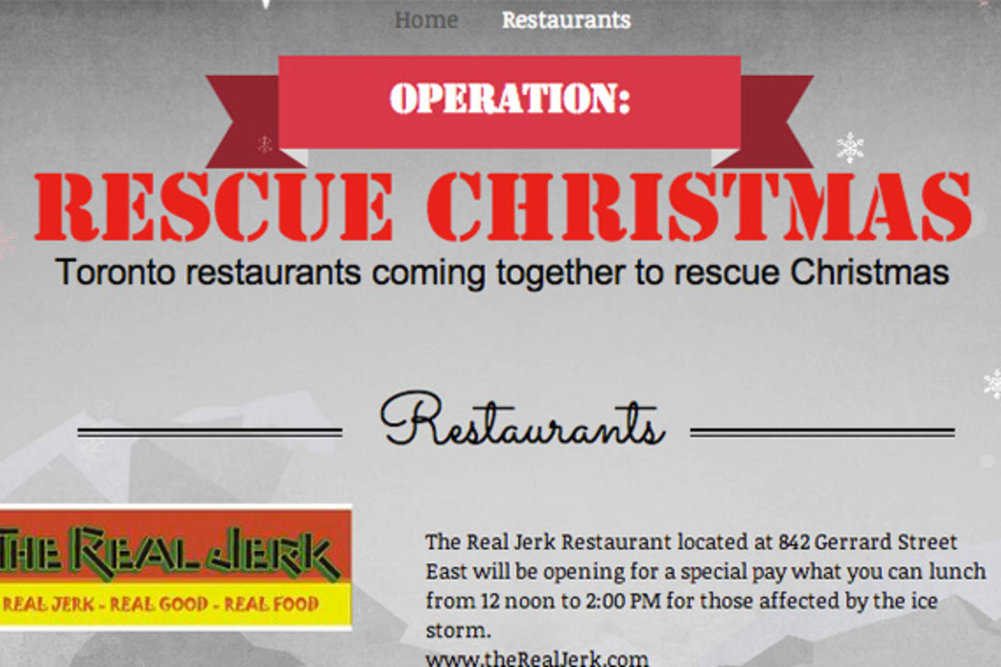 Restaurant rescue Christmas