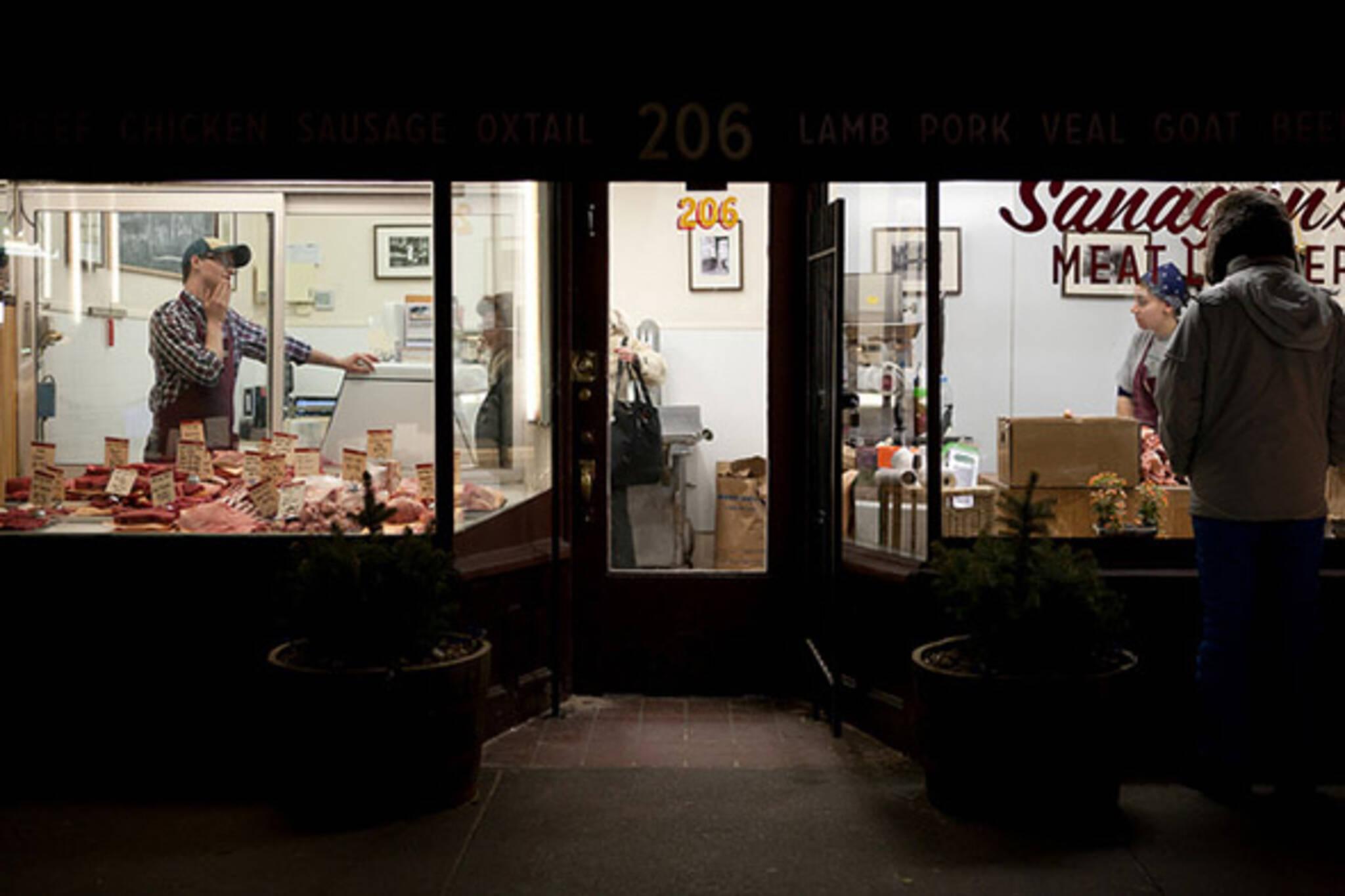 meat, market, store