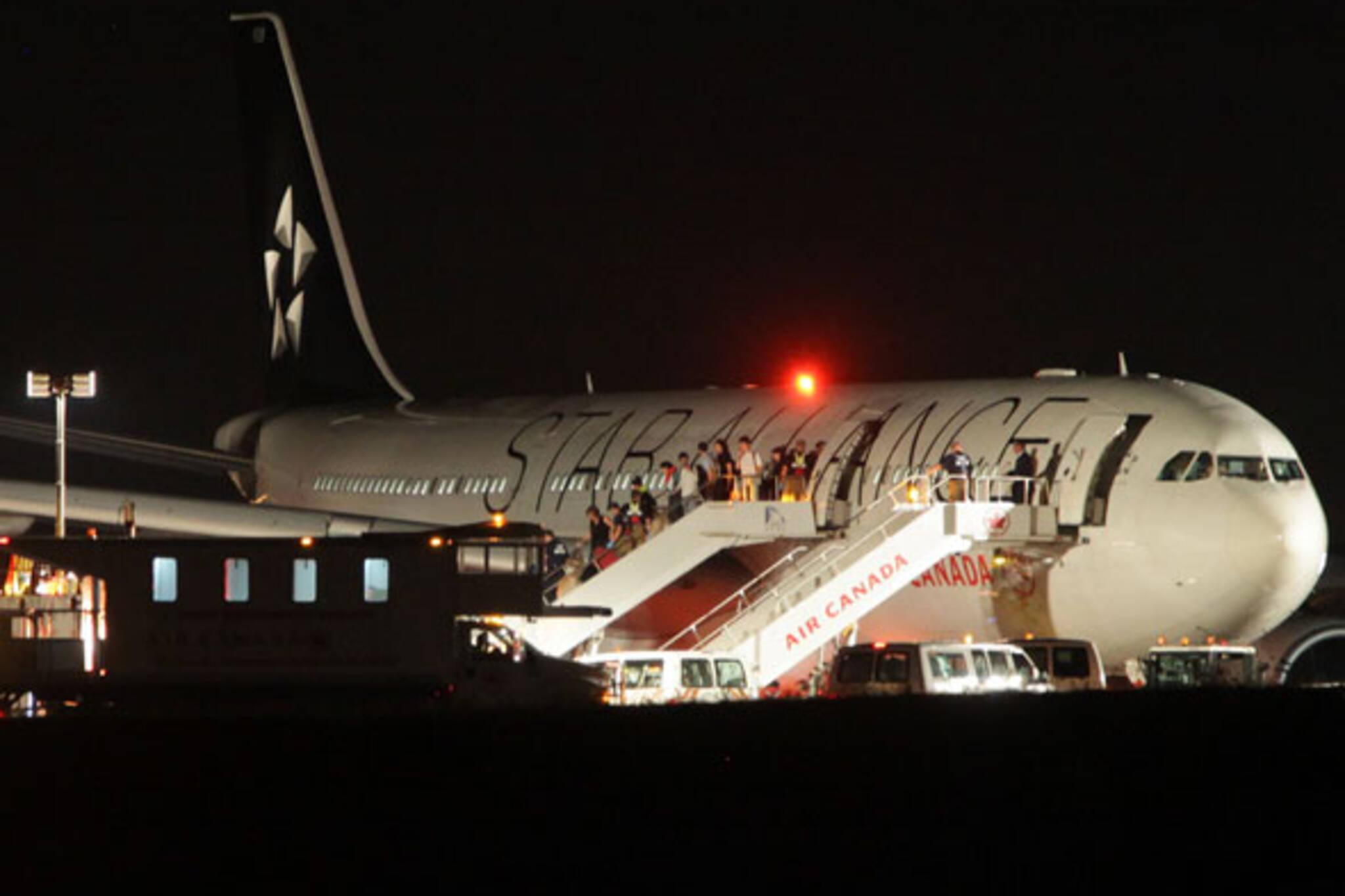 Air Canada off runway