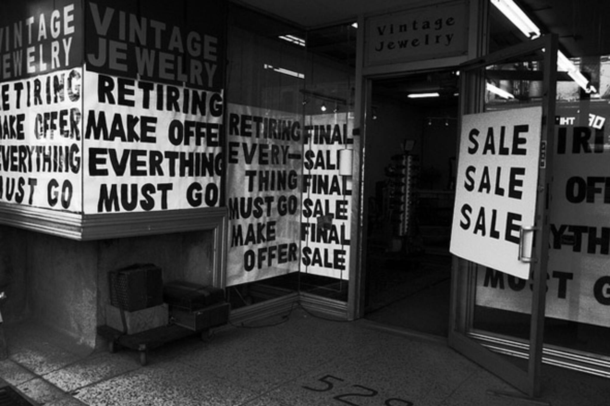 sale, street, sign