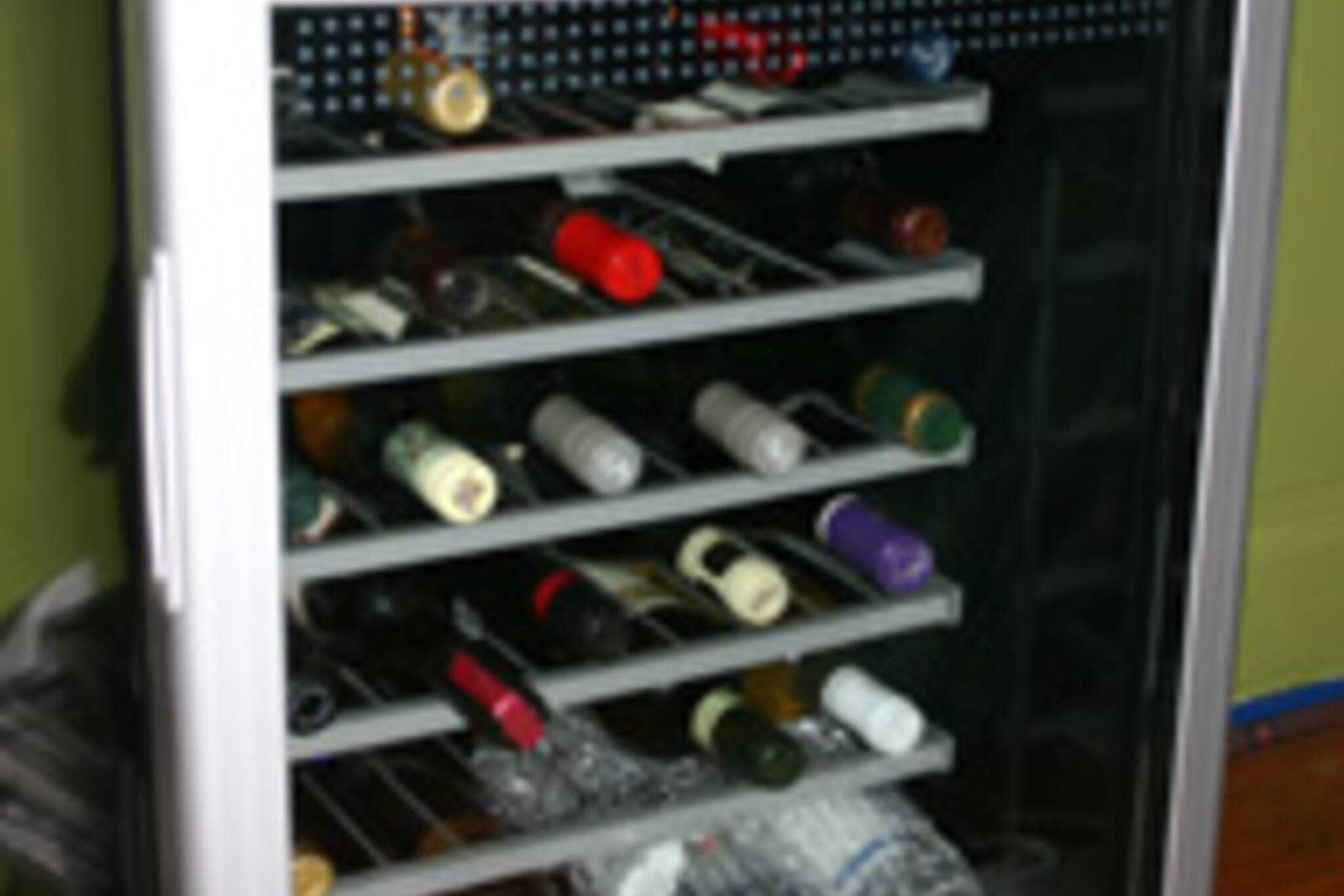 My new wine-fridge.  Now I can keep my bottles at optimum conditions.