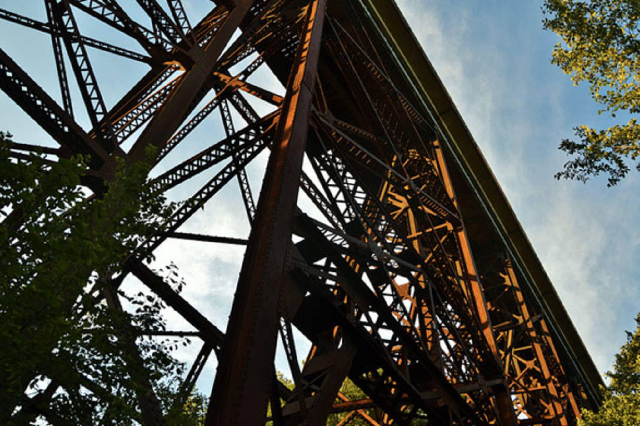 toronto Ernest Thompson Seton Park train bridge