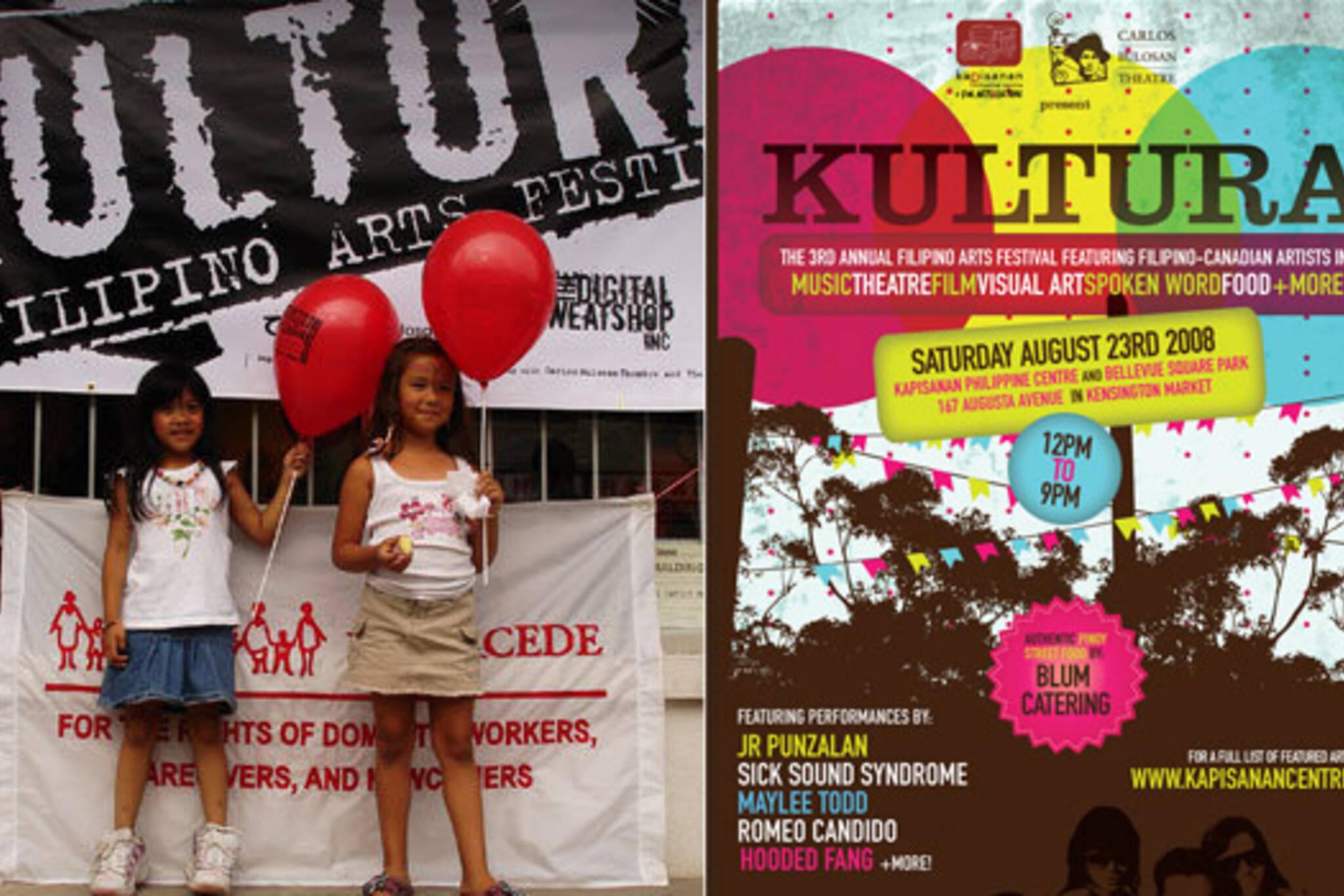 Kids enjoying Kultura Filipino Arts Festival