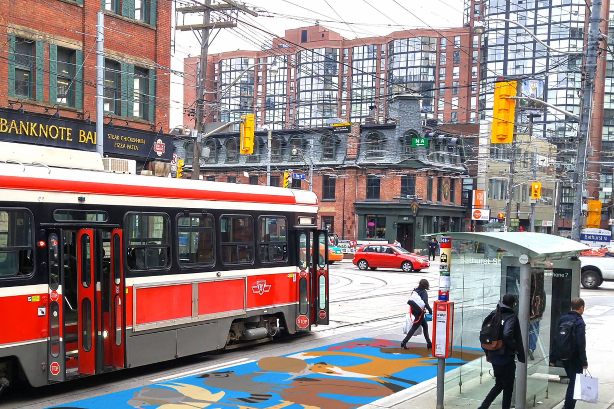 toronto streetcar murals