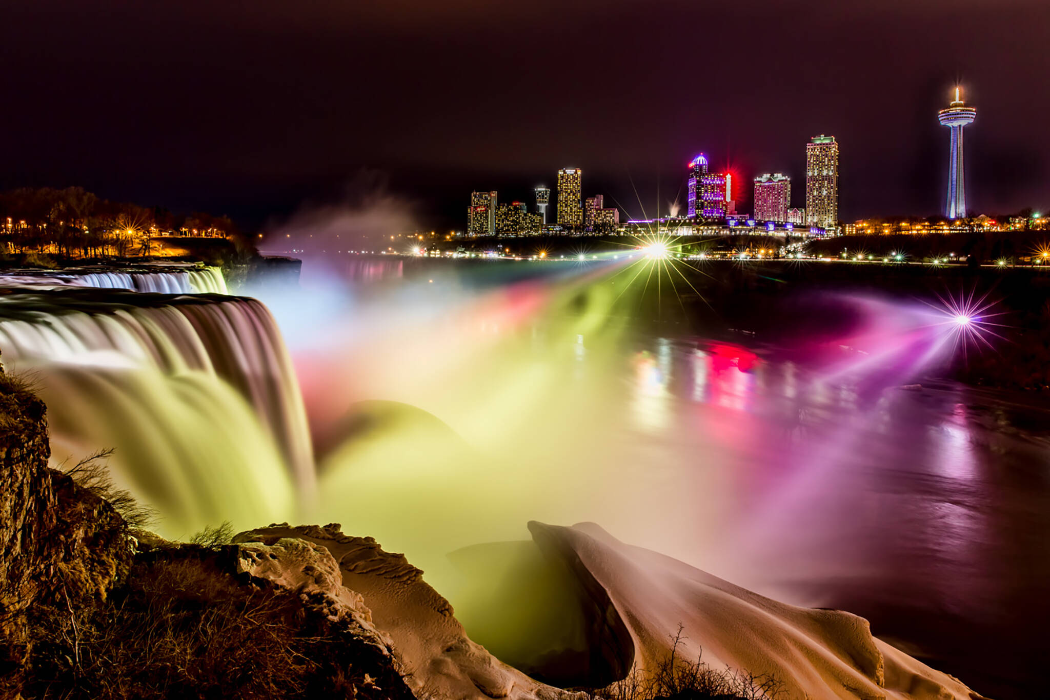 niagara falls light show