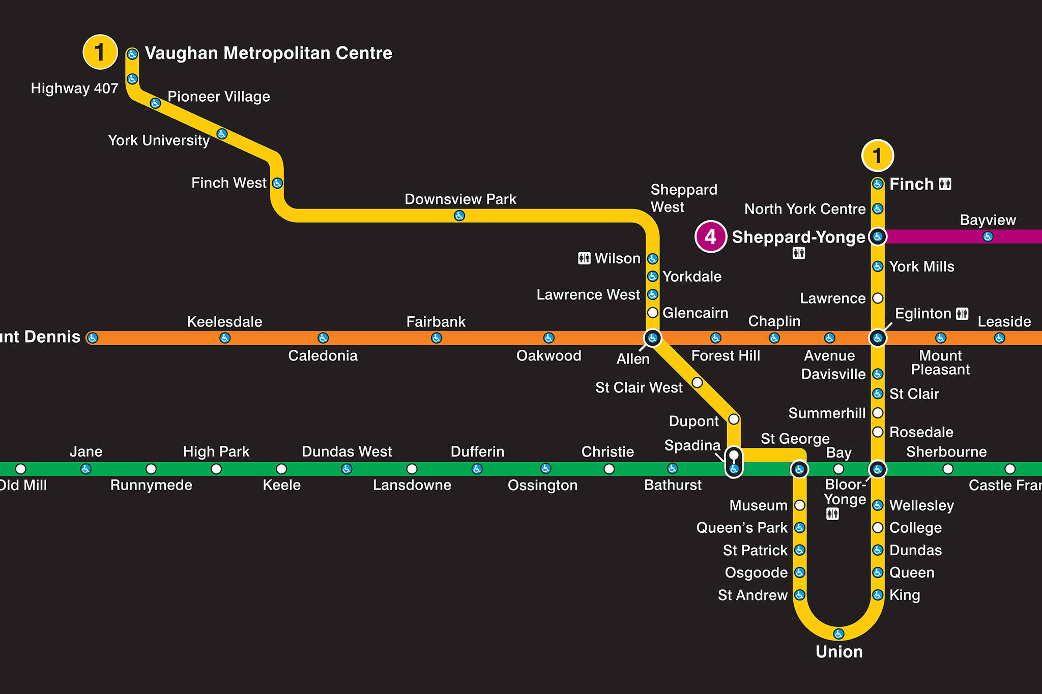 Toronto New Subway Map