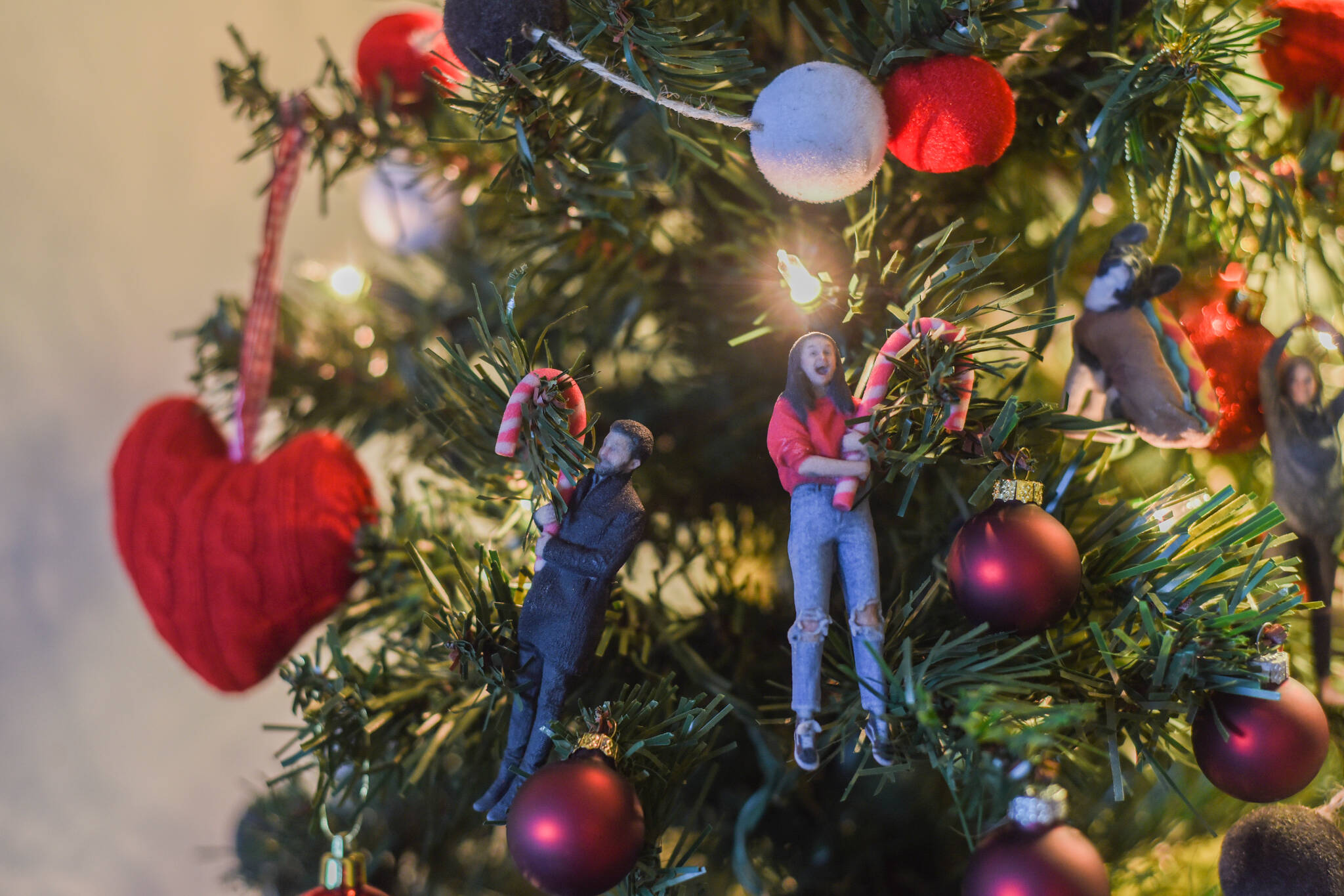 selfie christmas ornament