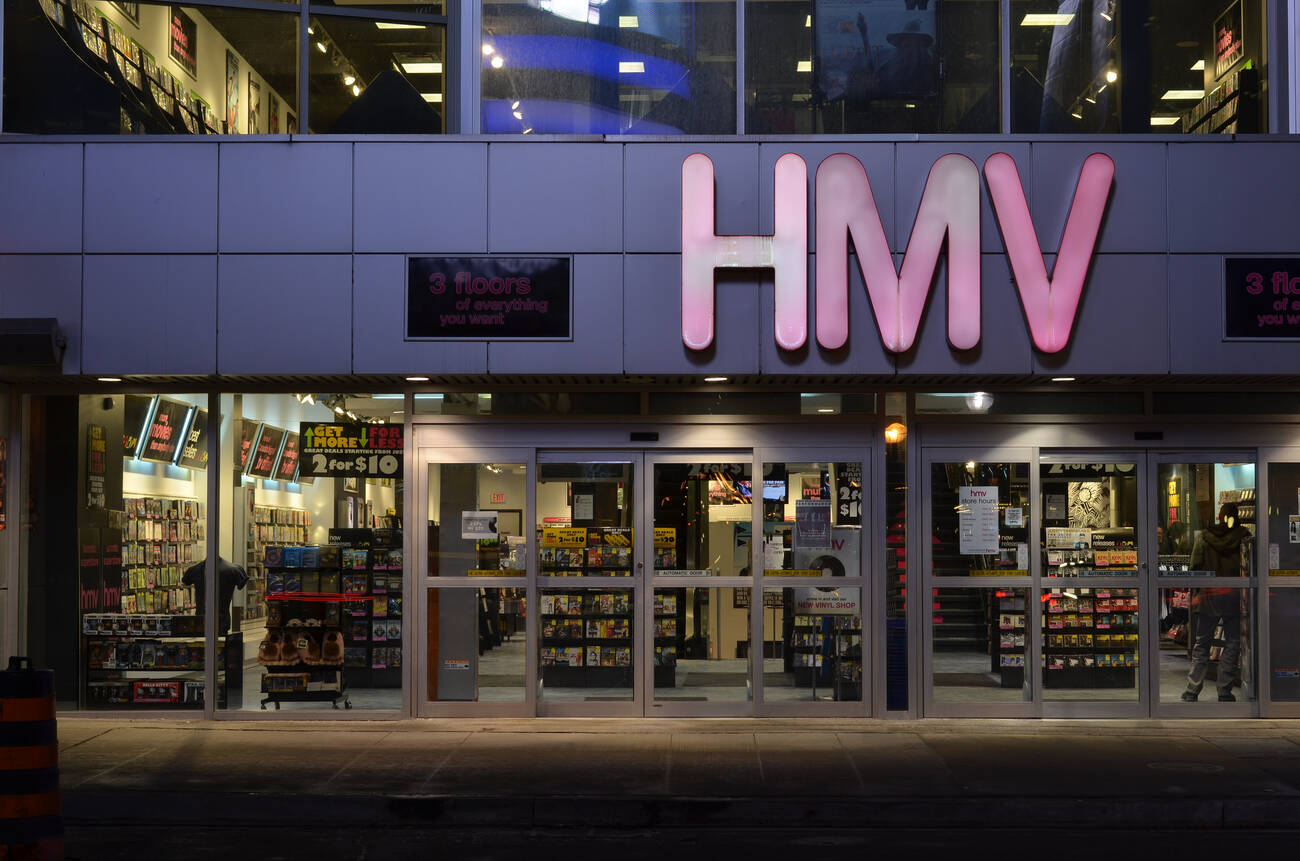 hmv says its flagship store in toronto isn 39 t going anywhere. Black Bedroom Furniture Sets. Home Design Ideas