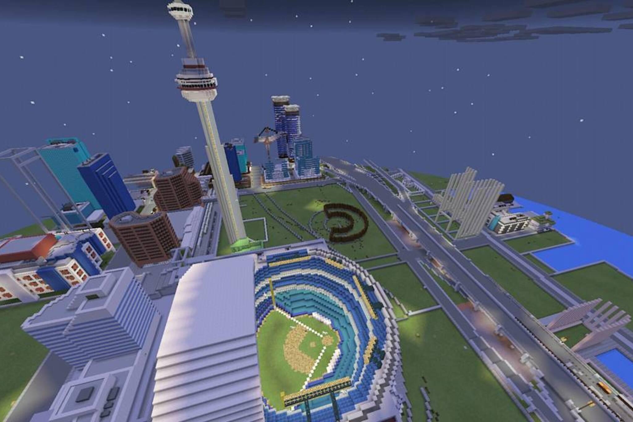 Someone built a Minecraft version of Toronto