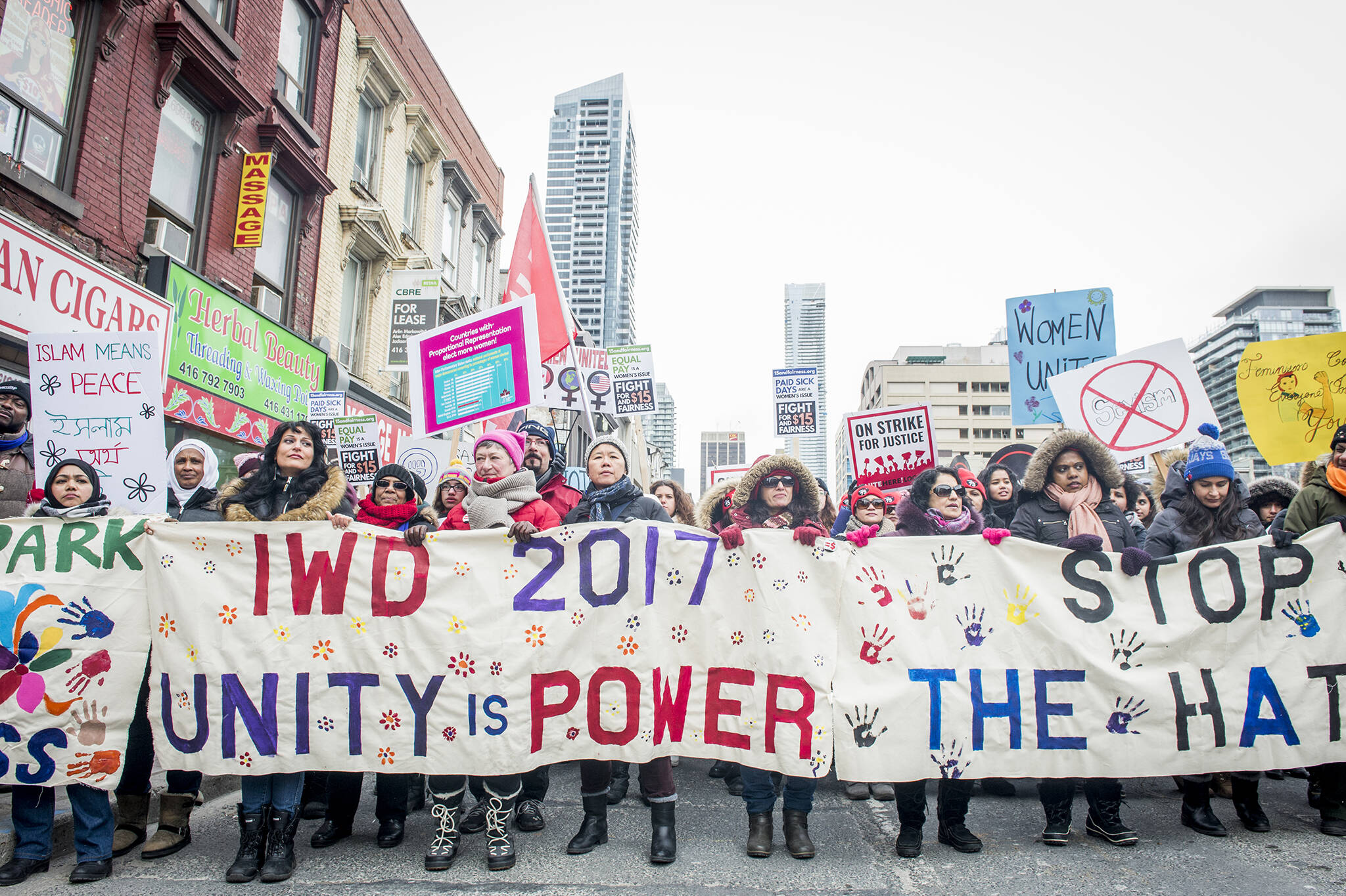 womens day march toronto