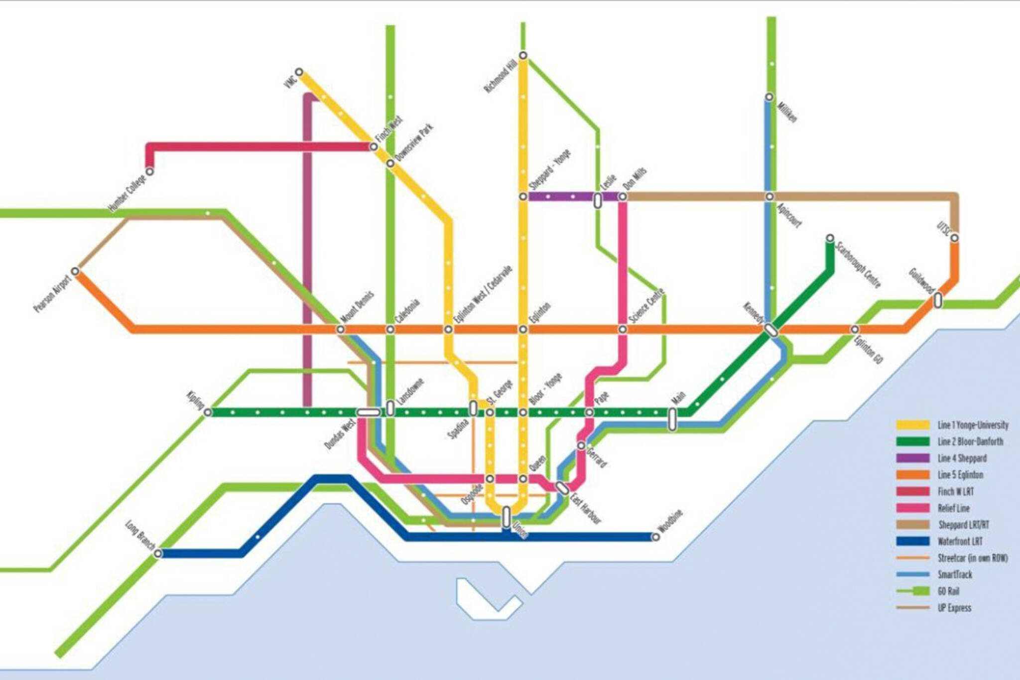 Fantasy Toronto Subway Map.This Is What Toronto S Future Transit Network Could Look Like