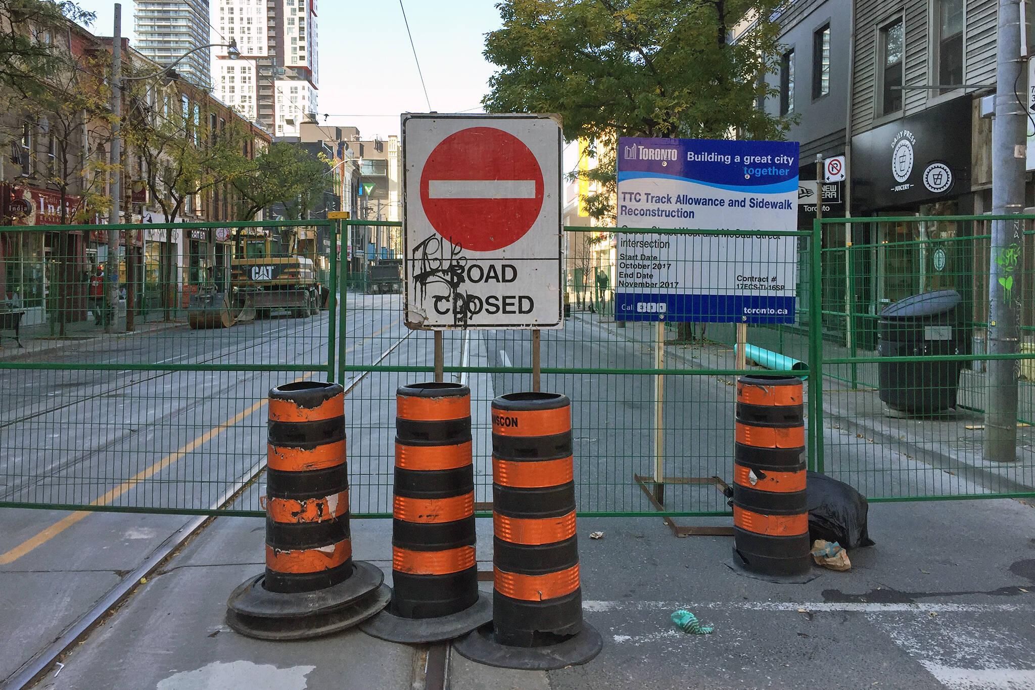 Road Closure Toronto