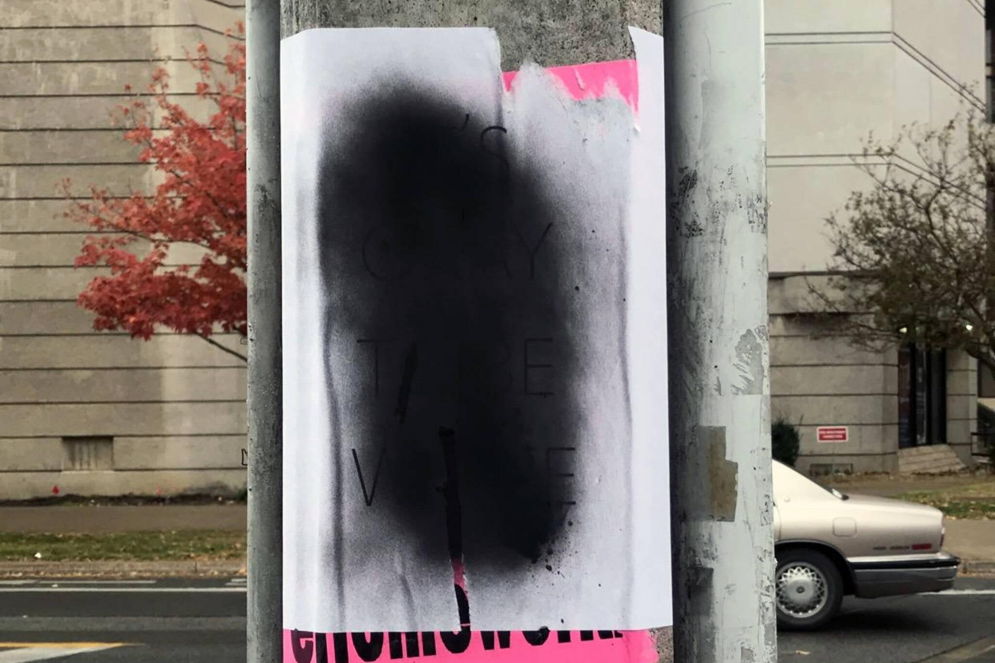 racist signs university toronto