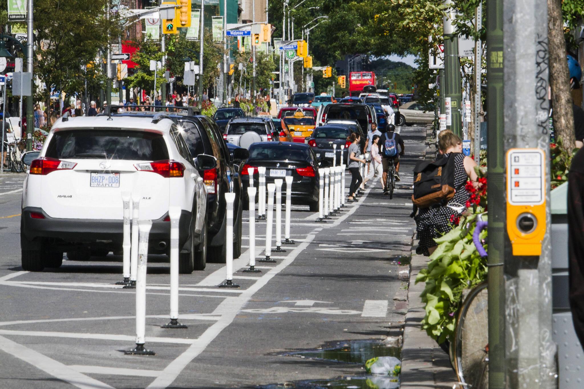 Bloor bike lanes toronto