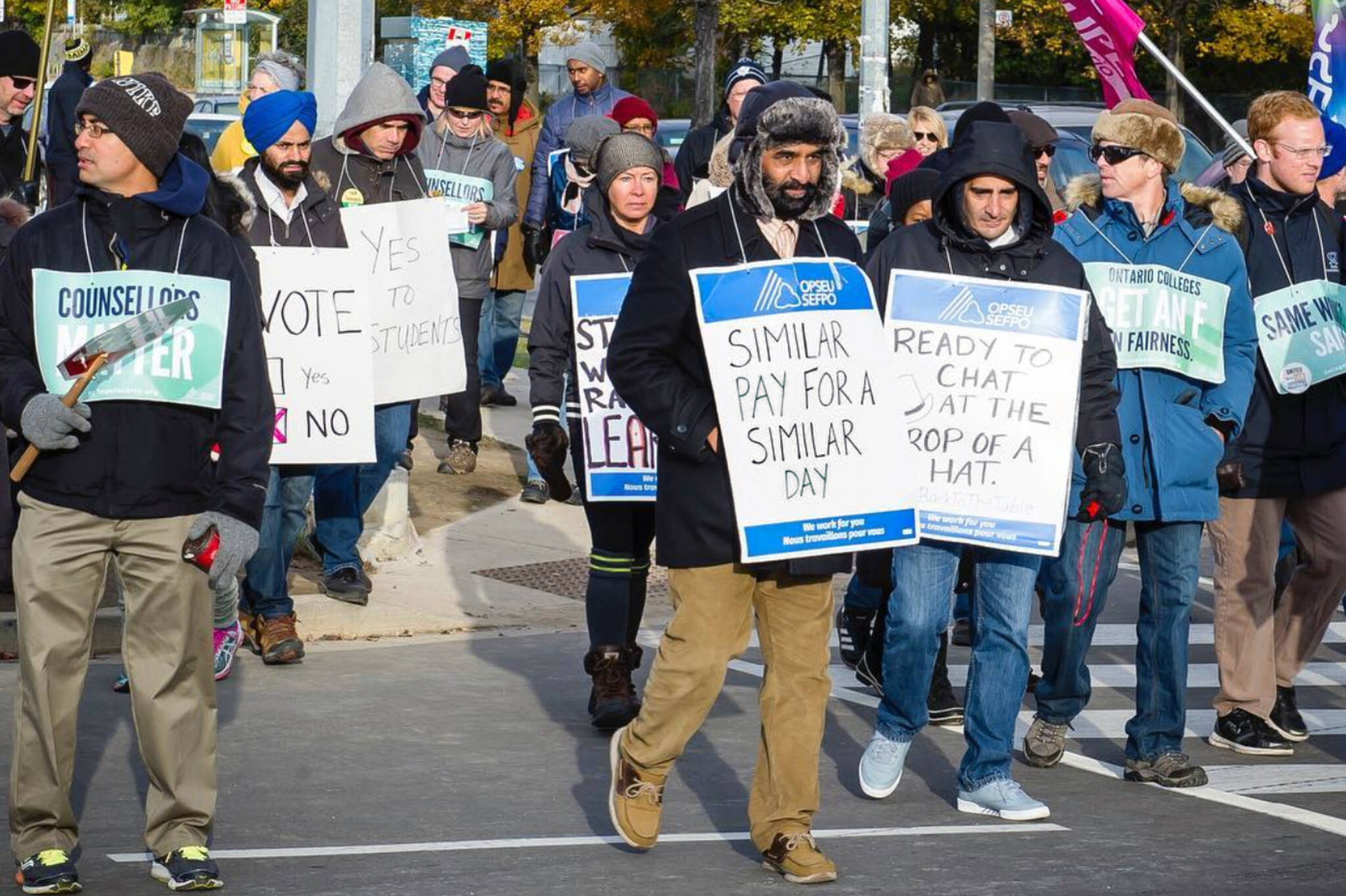 college strike ontario