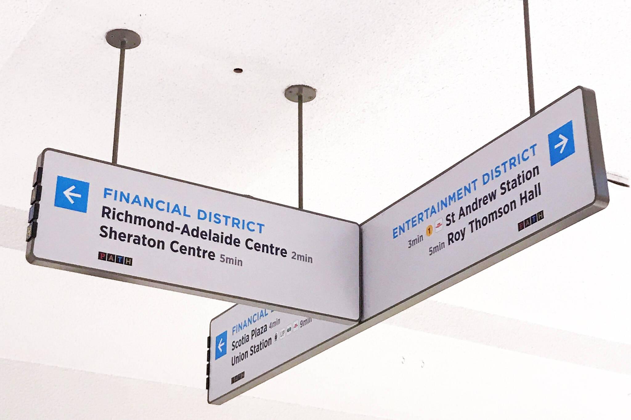 Toronto path signs