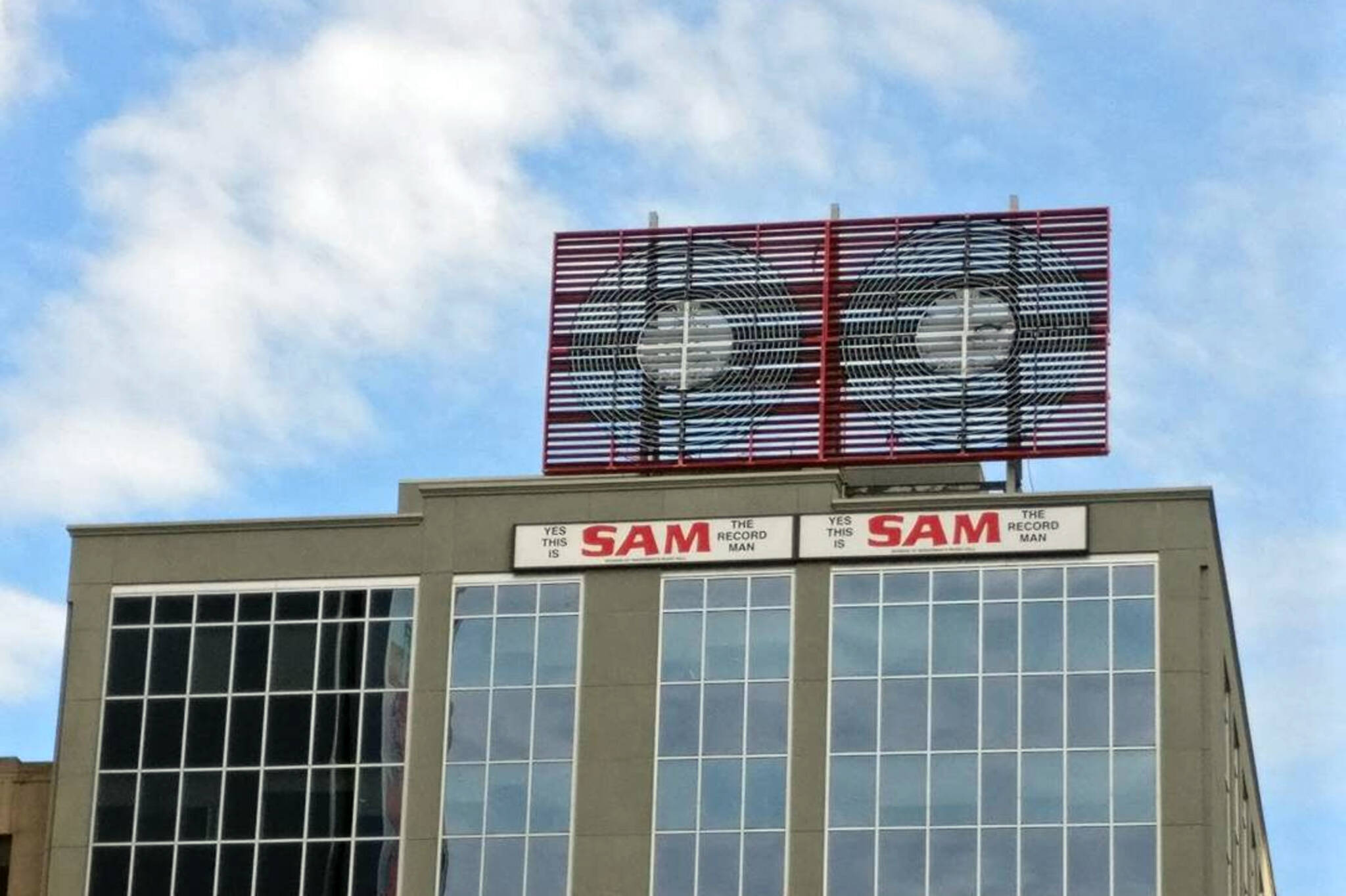 Sam the record man sign