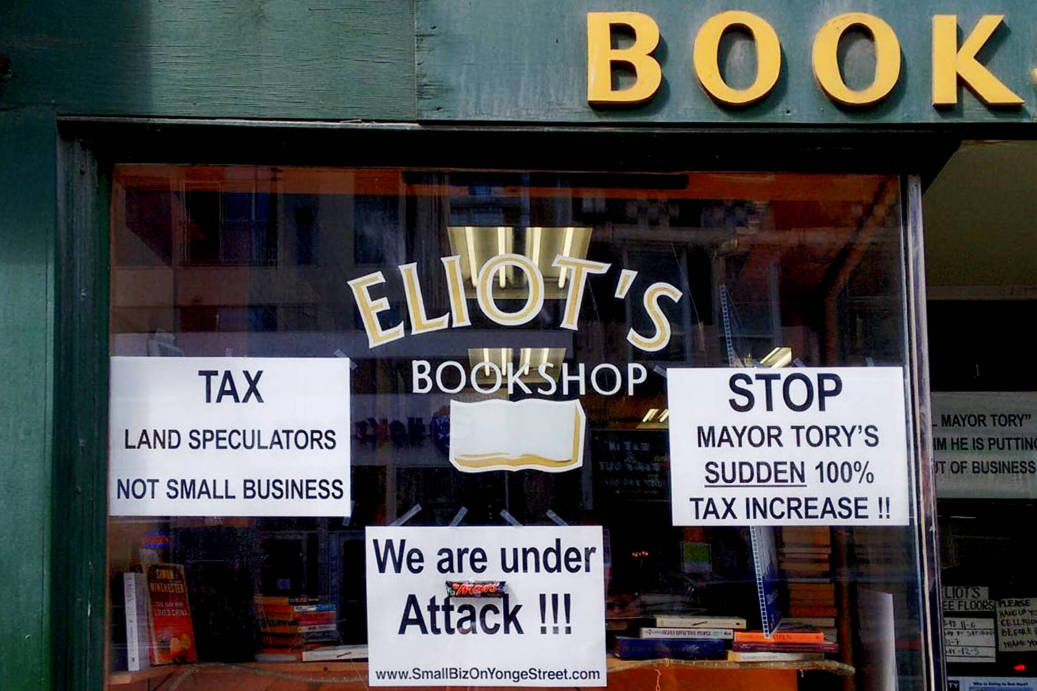 Eliot's bookshop toronto