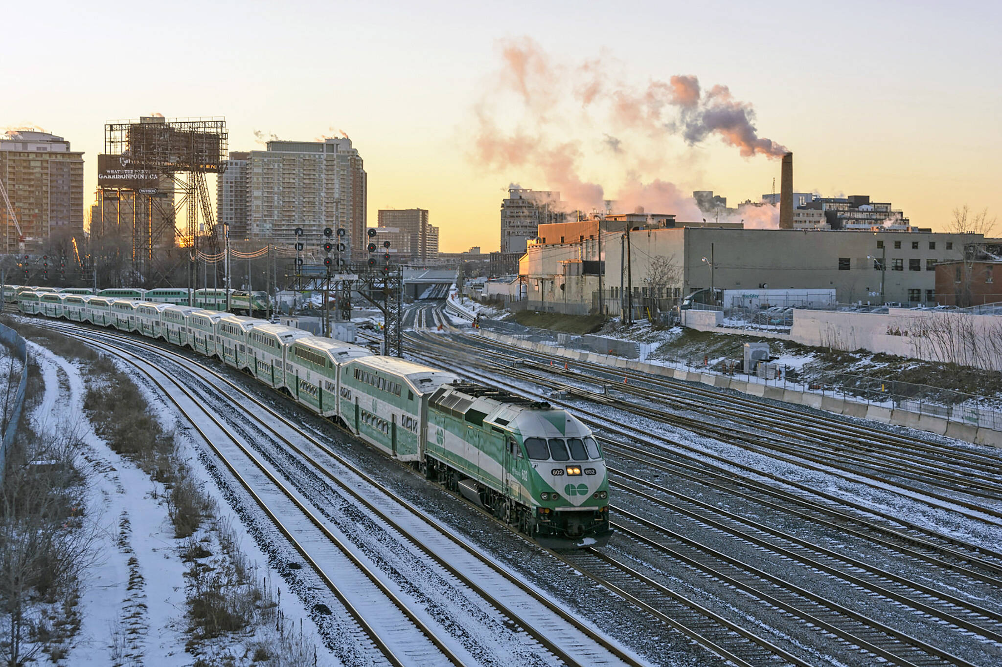 go train snow delay