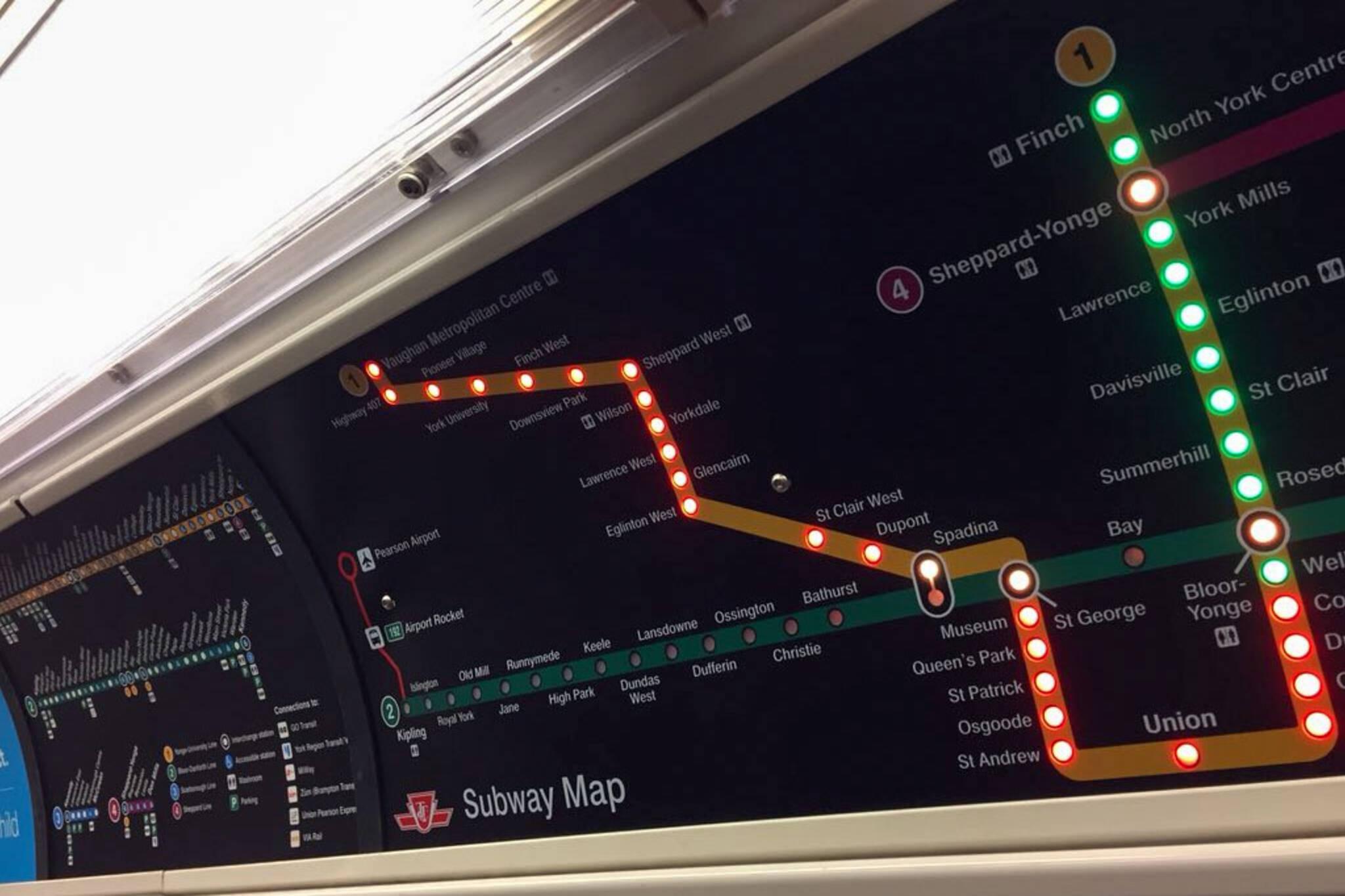 New subway signs