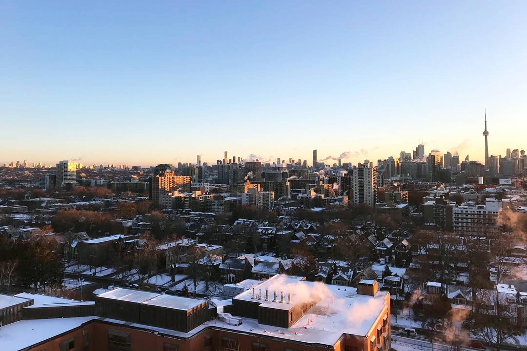 Toronto coldest morning