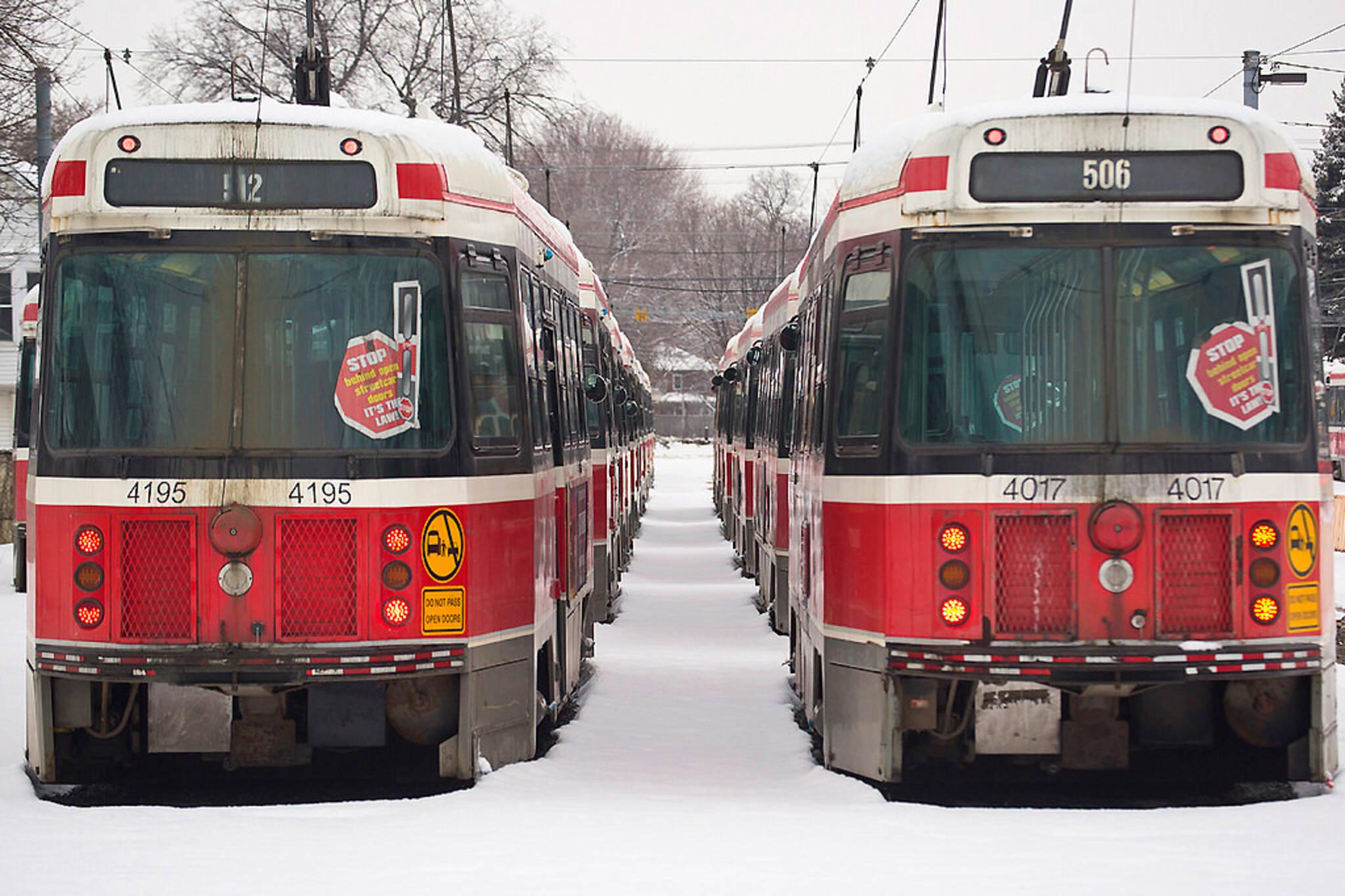 Streetcars cold Toronto