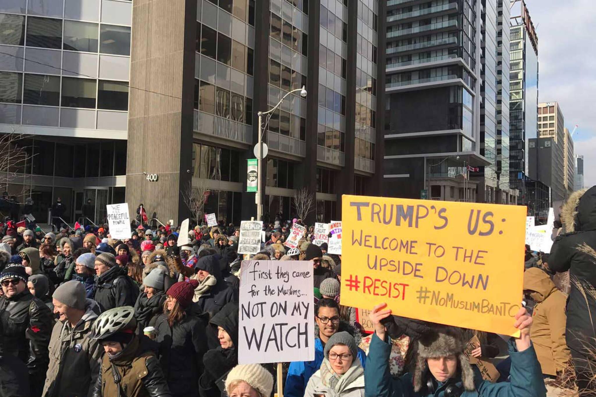trump protest toronto