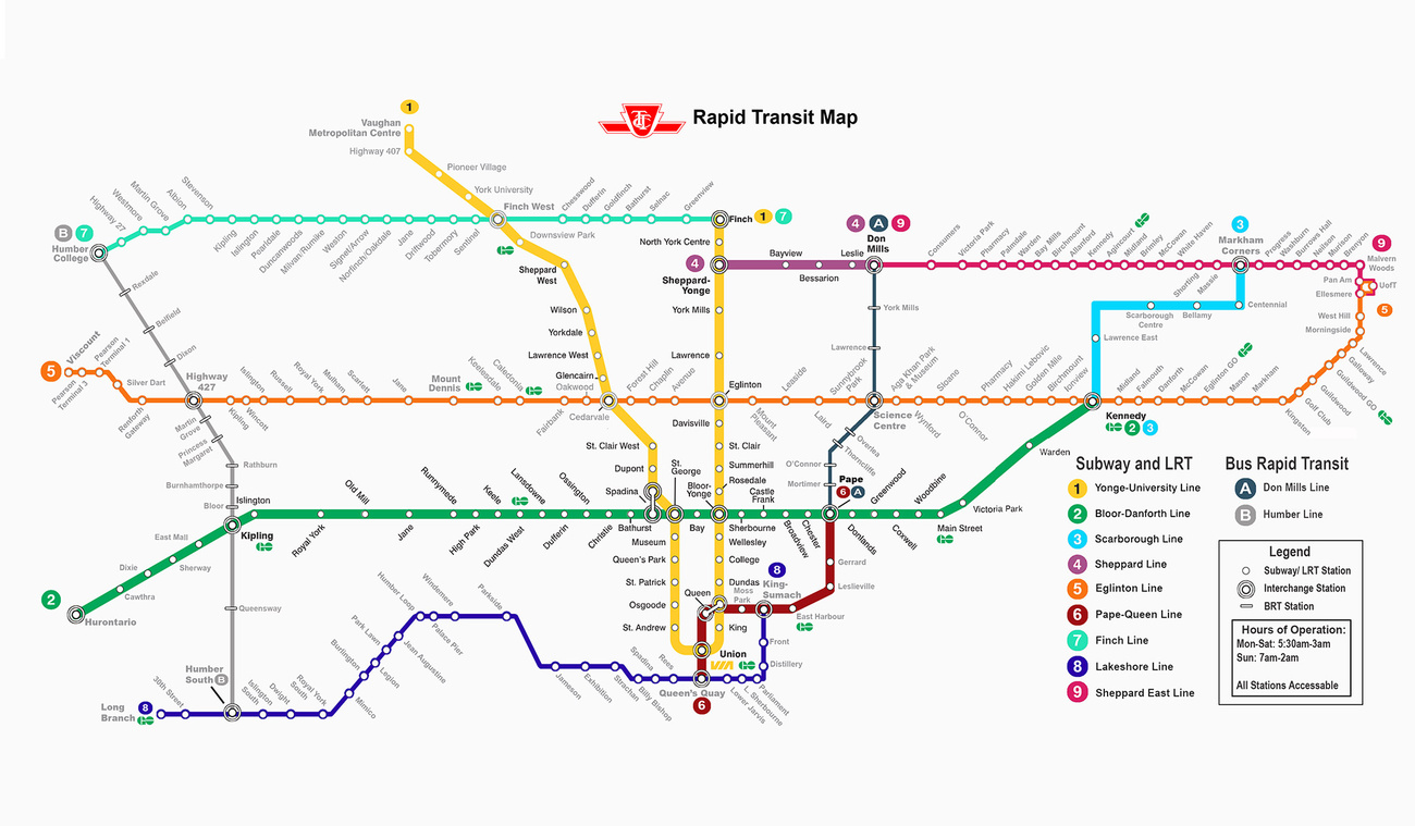 Toronto Future Subway Map