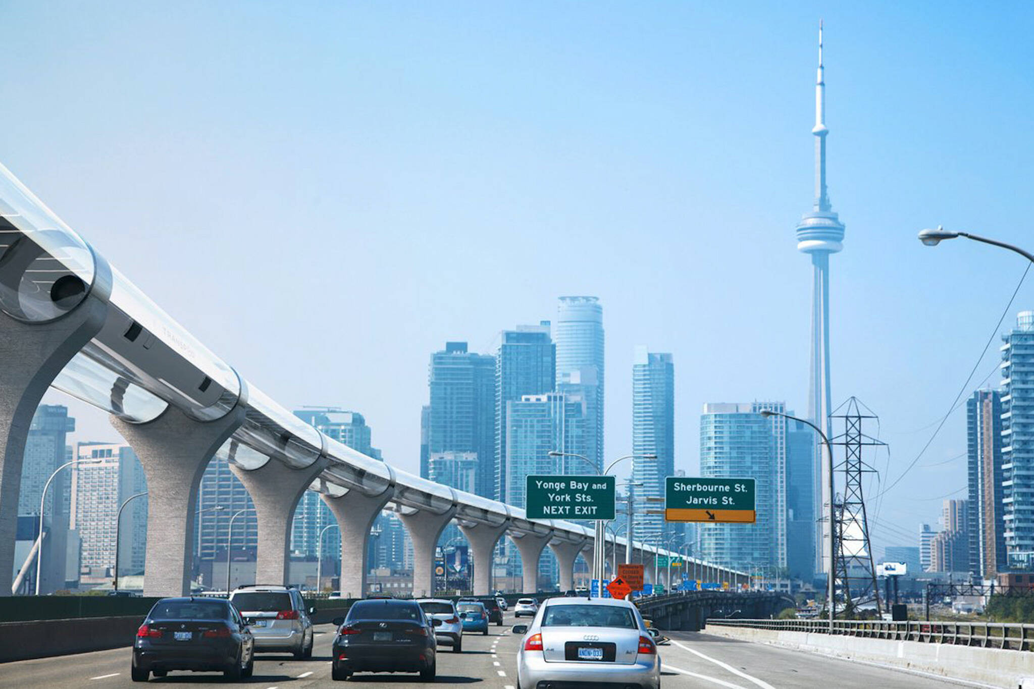 This is what the future of travel might look like in toronto for Hyperloop italia