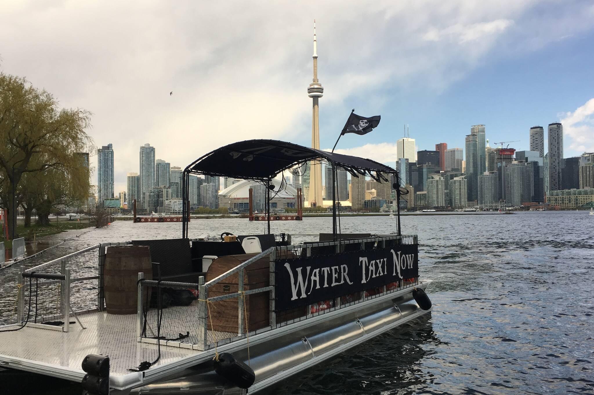 Toronto water taxi island flood