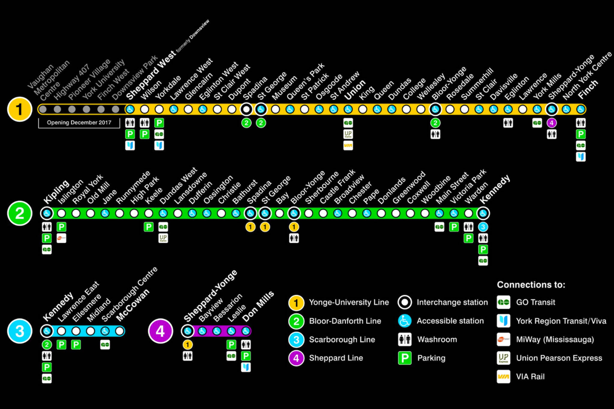 Ttc Subway Map 2018.The Ttc Just Redesigned The Subway Map
