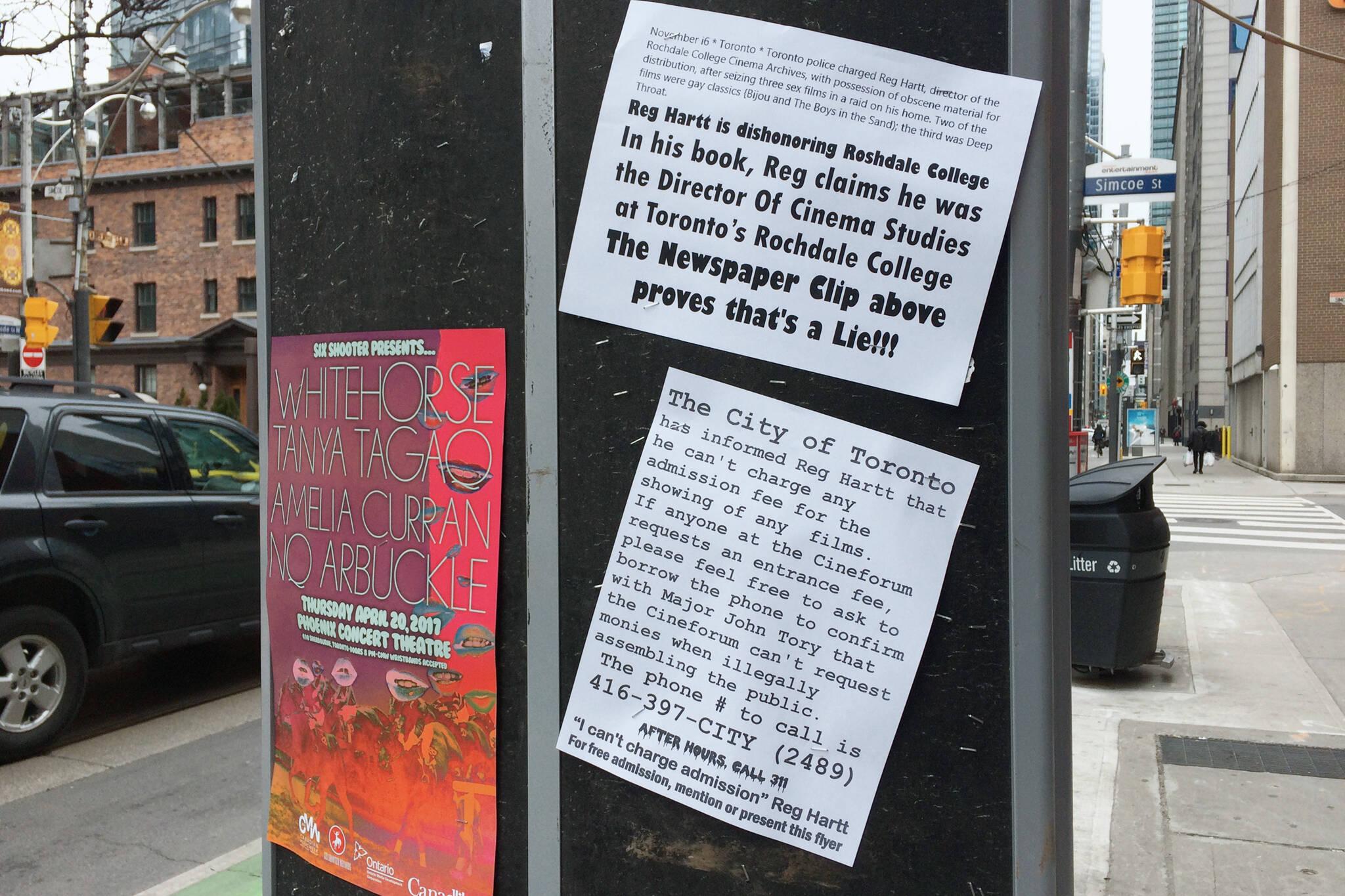 toronto poster feud