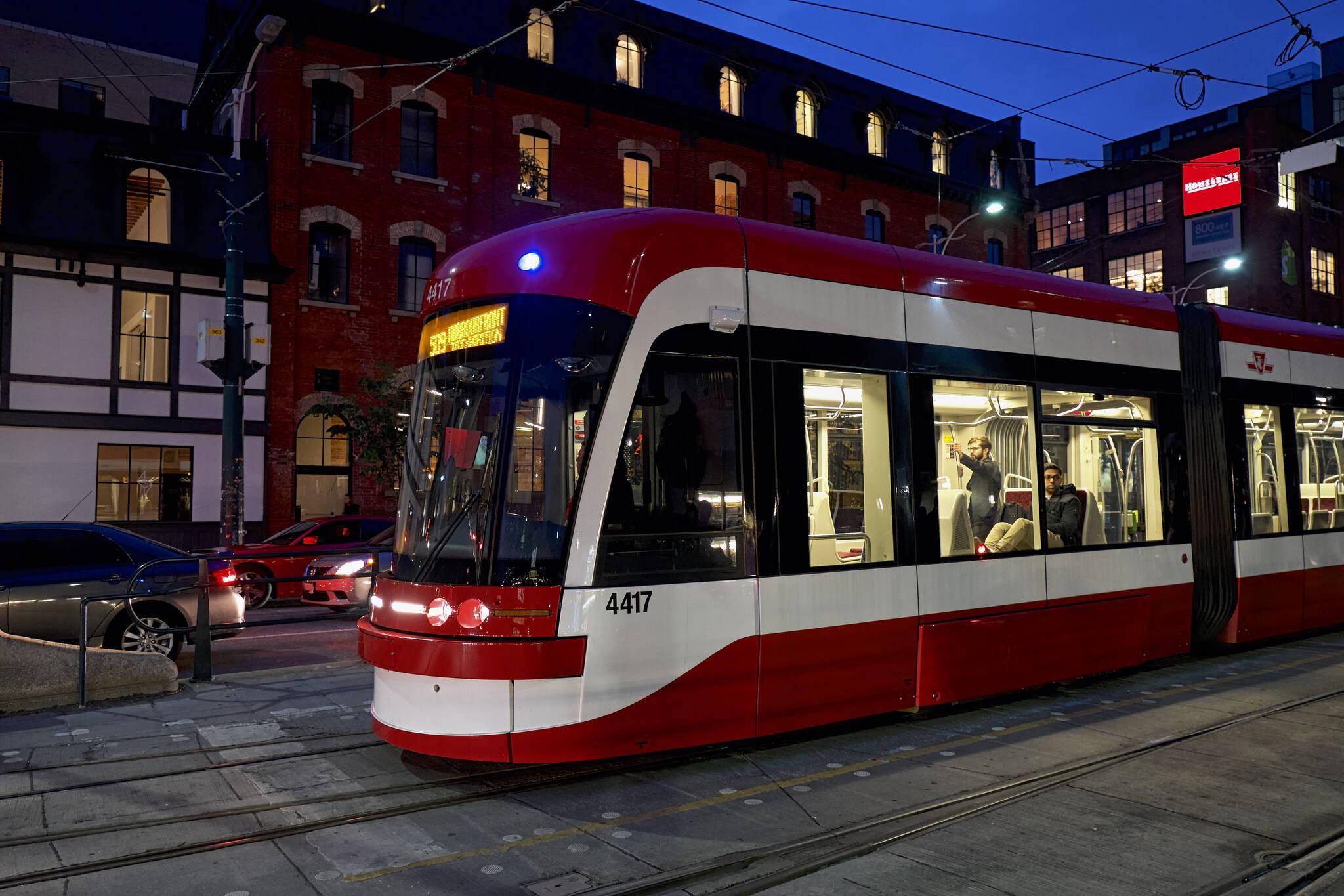 ttc streetcar toronto