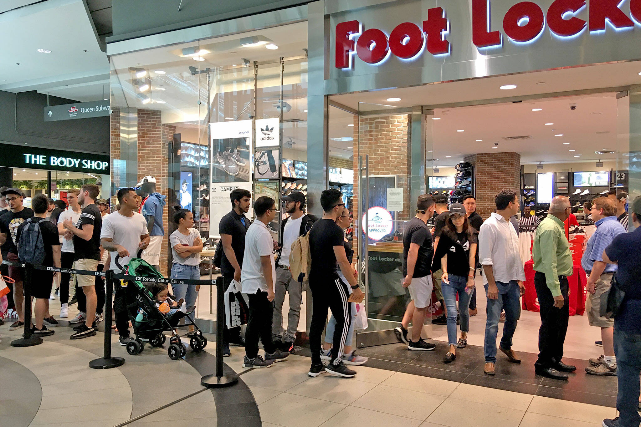 Hundreds just lined up in Toronto for chance to buy Yeezy shoes 6d9aecc22
